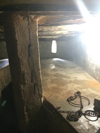 Slave Chambers. Up to 70 people could be kept in this room at one time.