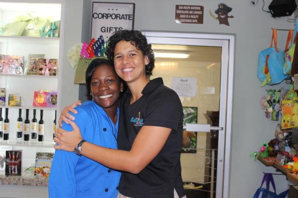 Erika Davis with Tru Bahamian Food Tour's Alanna Rodgers