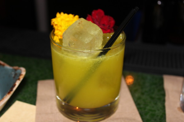 """Mother Earth"" – Tumeric infused Ford's Gin, house made celery shrub, lime, sugar"