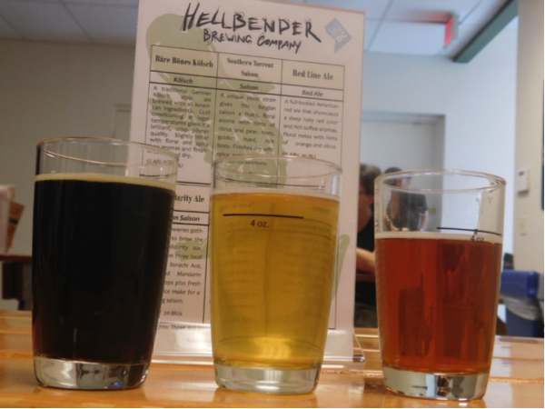 Left to Right: Coffee Stout, Saison, Red Ale