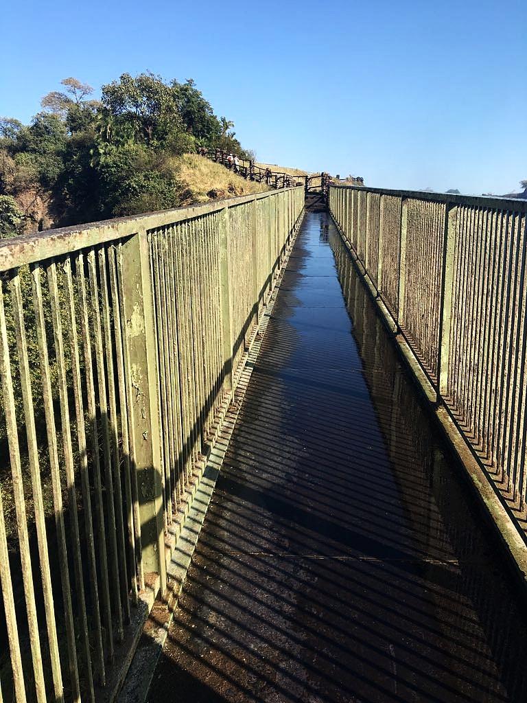 Knife's Edge Bridge on the Zambian side