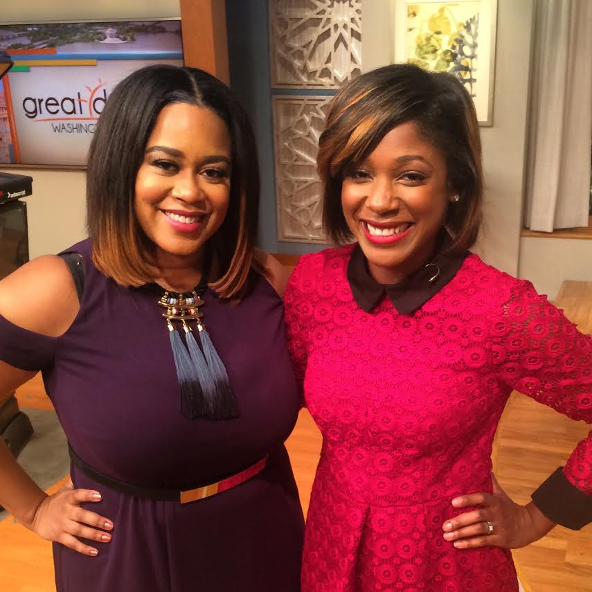 Ashlee Tuck with Great Day Washington Host, Markette Sheppard