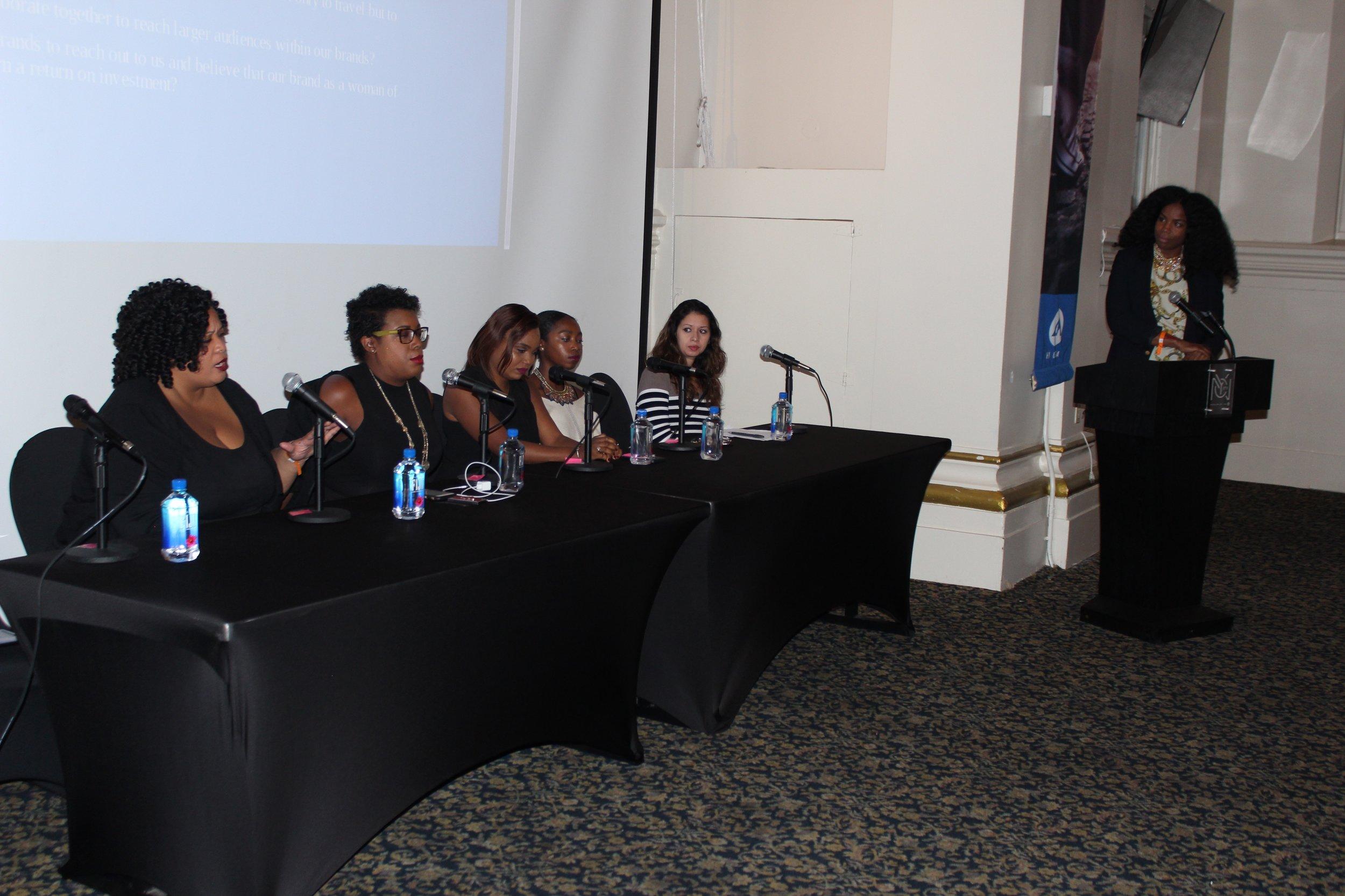 Left to Right: Kimberly Wilson, Yvonne Pearson, Keisha Nelson, Imani Rodman, Diana Limongi, Felice Leon