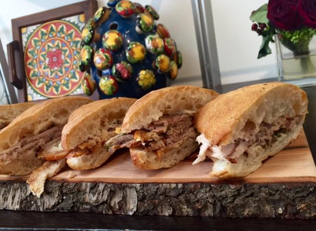 Pork belly porchetta sandwiches