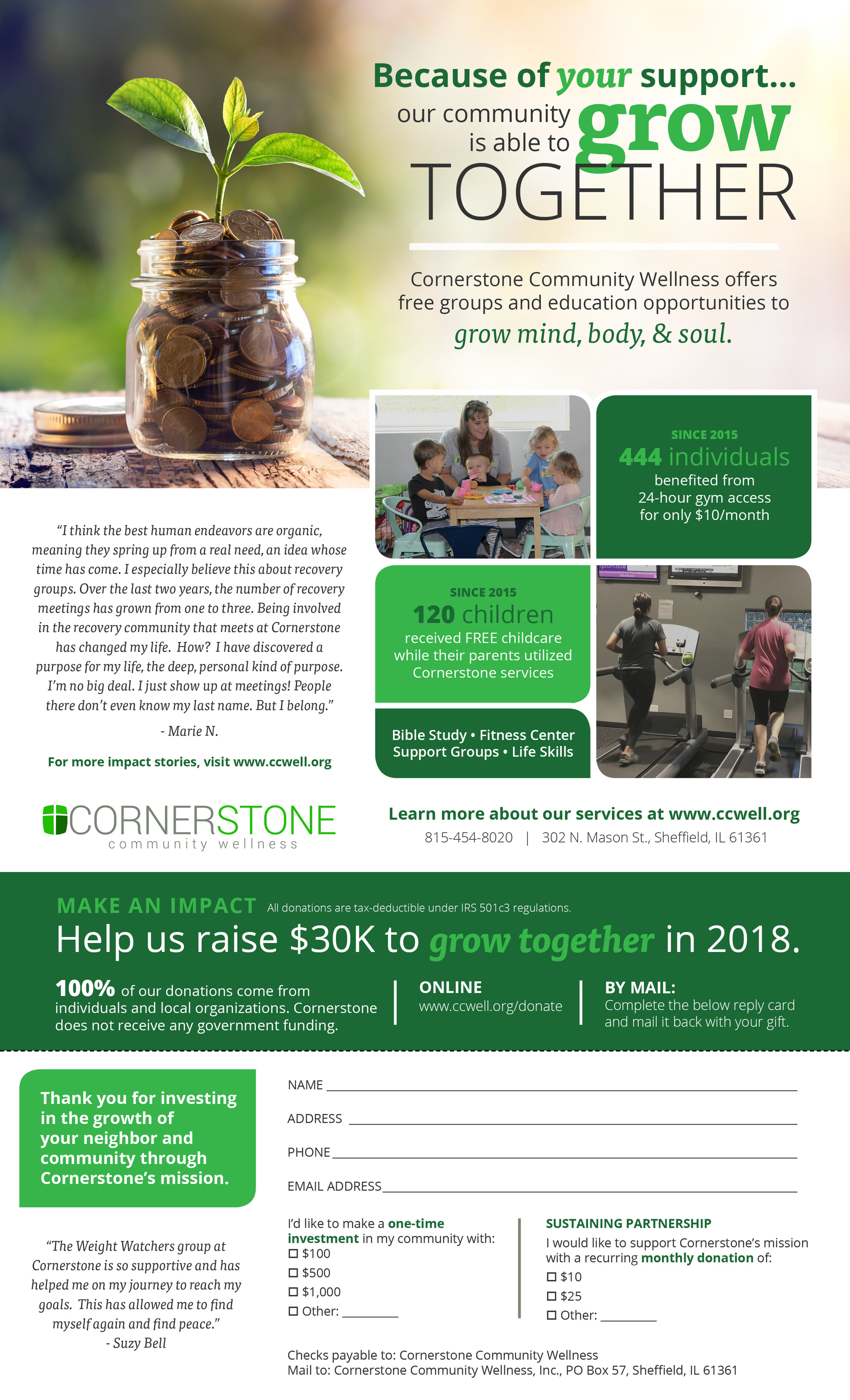 Cornerstone Community Wellness Year End Appeal