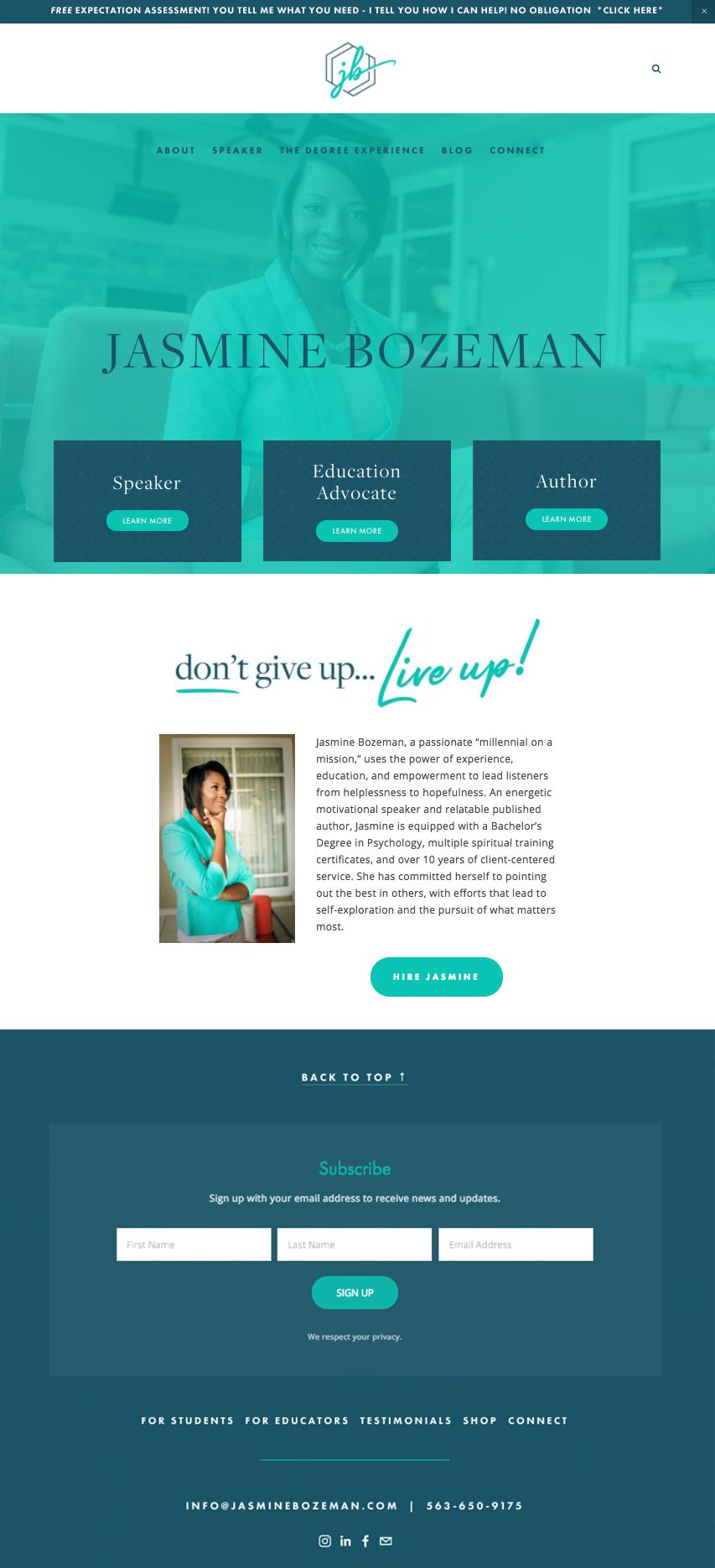 Jasmine Bozeman Website
