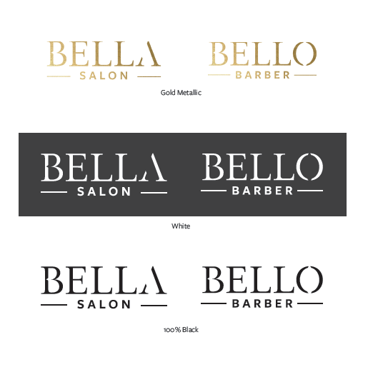 Bella Salon and Bello Barber Branding
