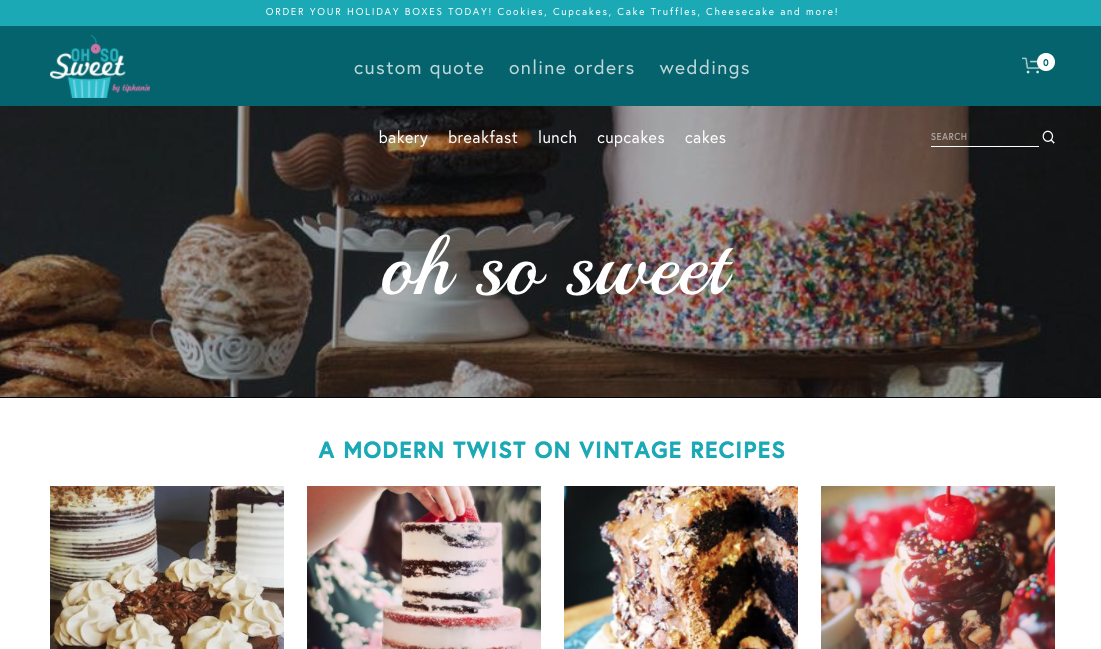 Oh So Sweet by Tiphanie Website Design