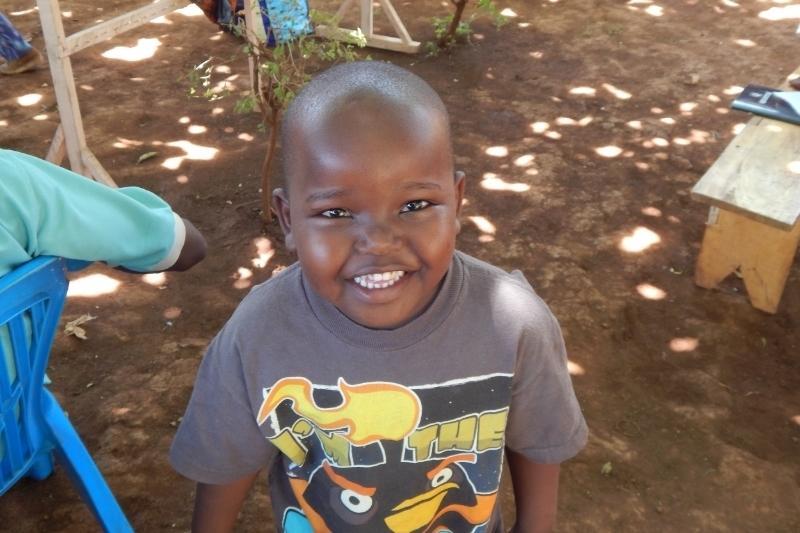 Samweli, 2 weeks before he started his new school