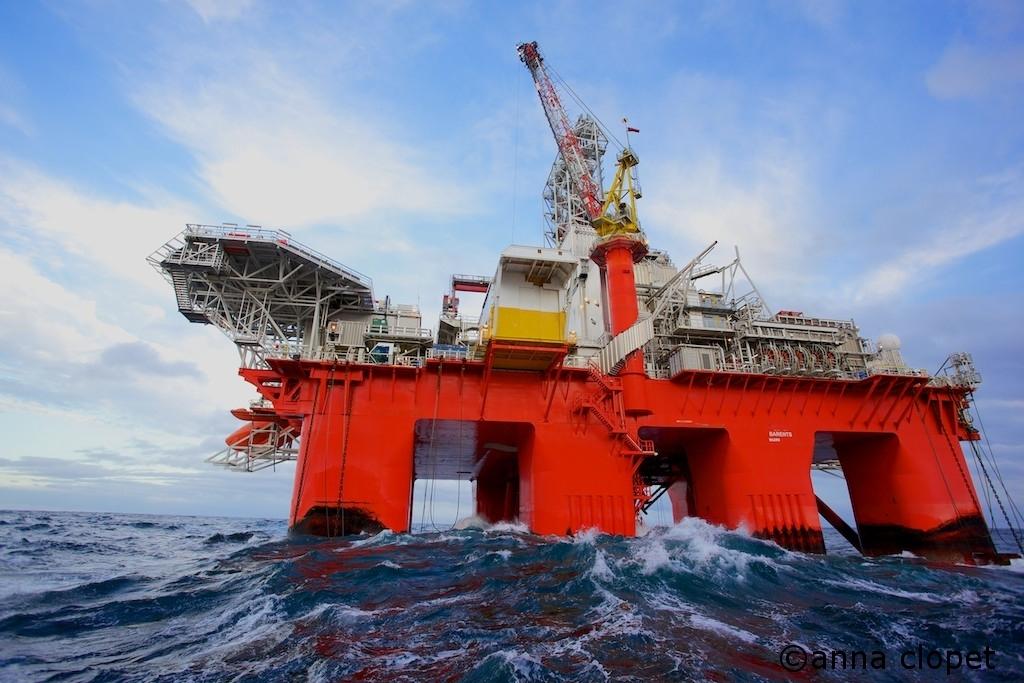 rig in the Norwegian Sea