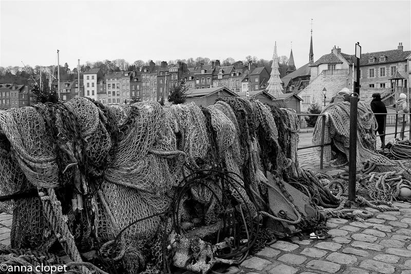 Honfleur#fishing nets#marina
