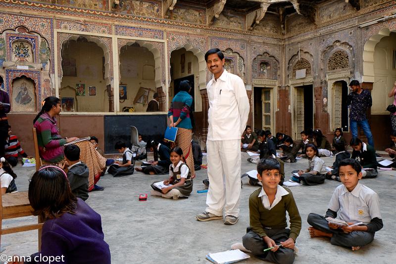 Haveli#school in Nawalgarh#frescoes#