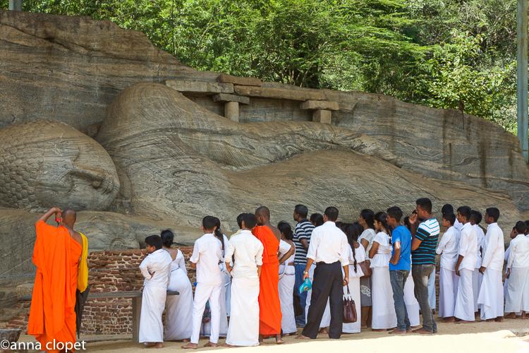 Reclining Buddha Polonawura Sri Lanka