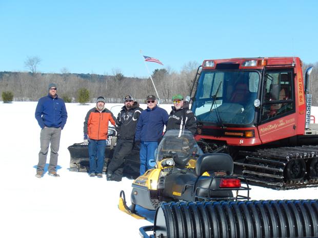 (left to right) Matt Skehan, Director, Waterville Parks and Recreation, Scott Dolan, Sam Green, Wally Donovan, Steve Buzzell