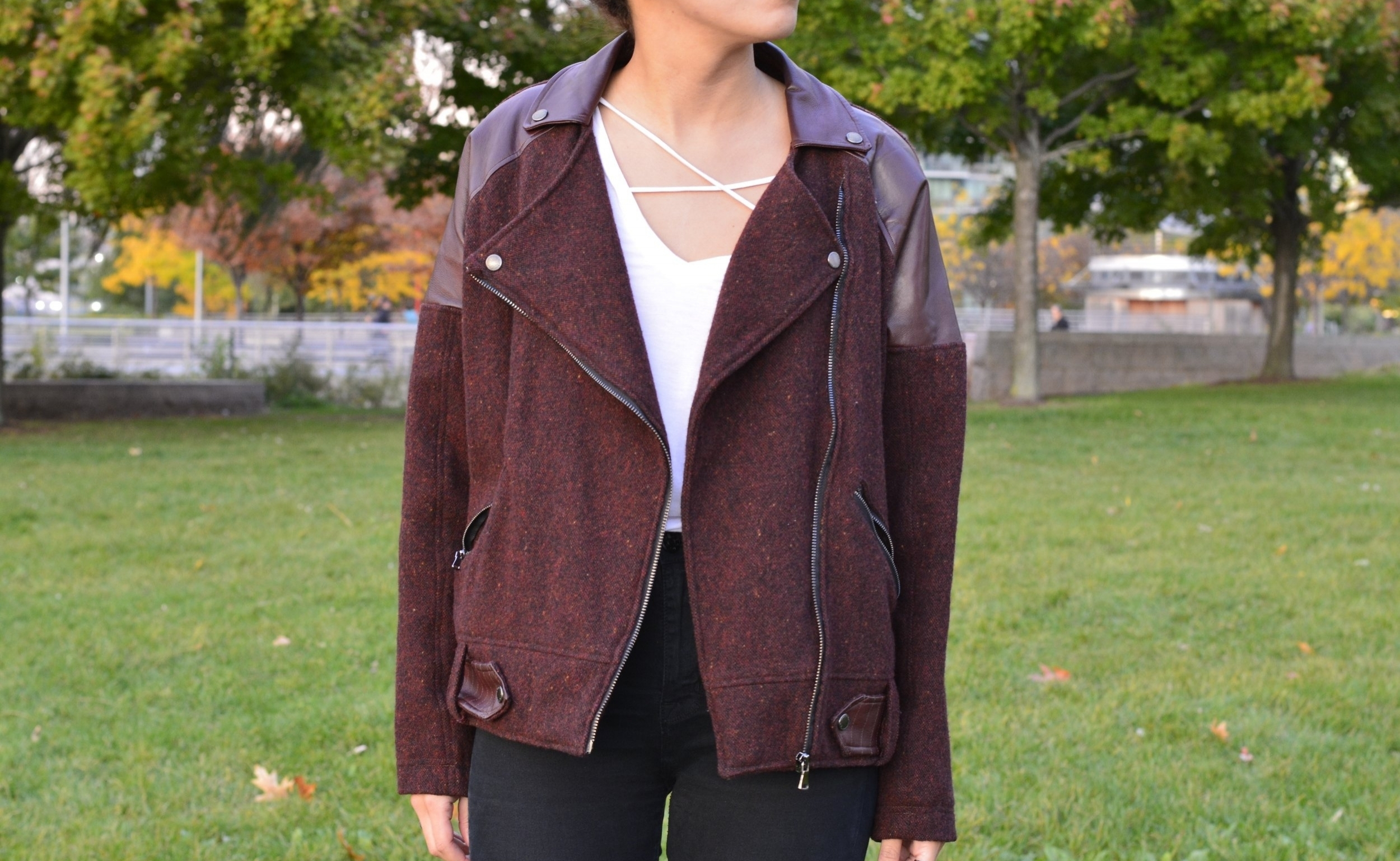 Wool Jacket - Made with wool and lambskin accents