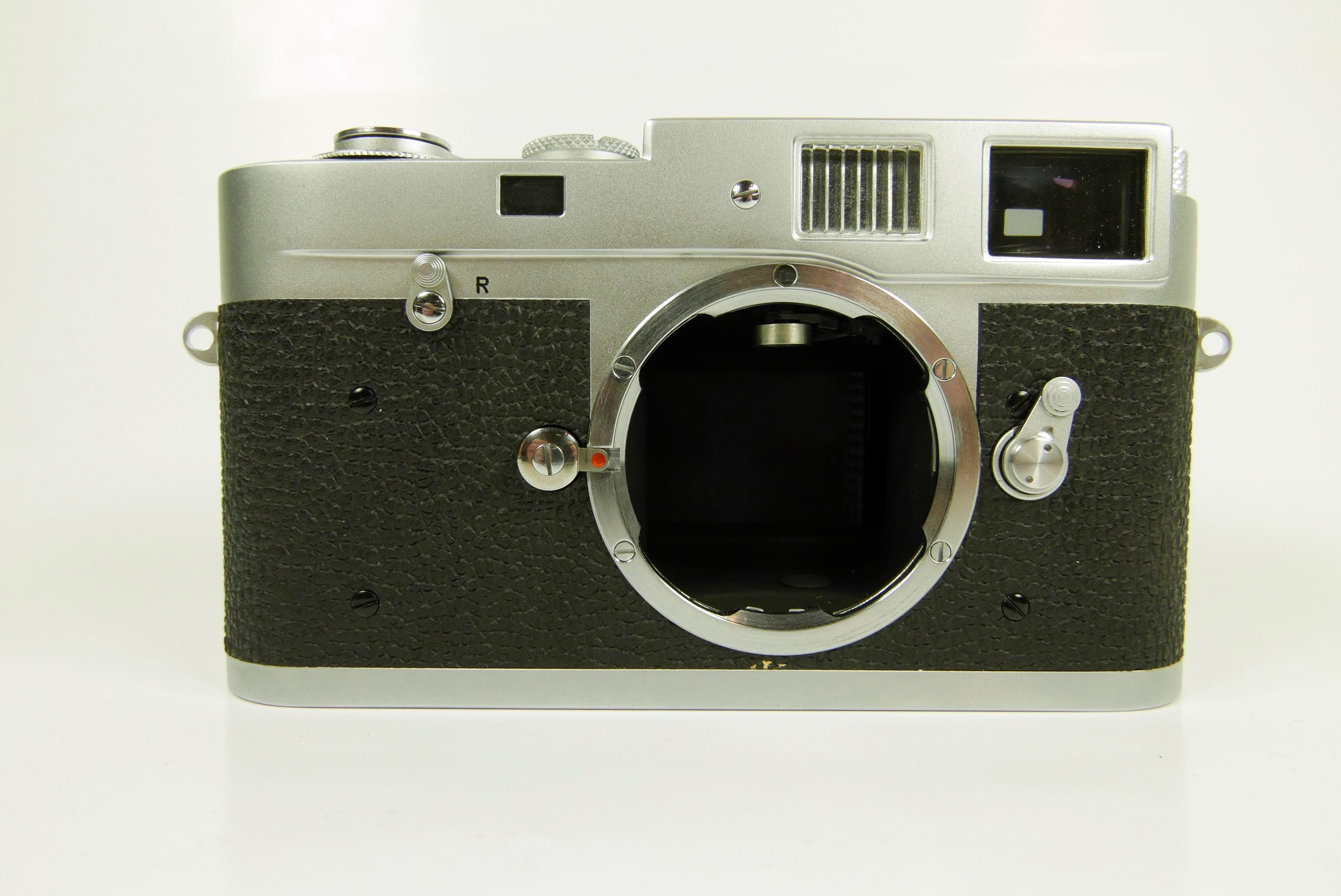 """Leica M2 prior to service. Note intact """"L"""" seal indicating the camera has never ben serviced."""