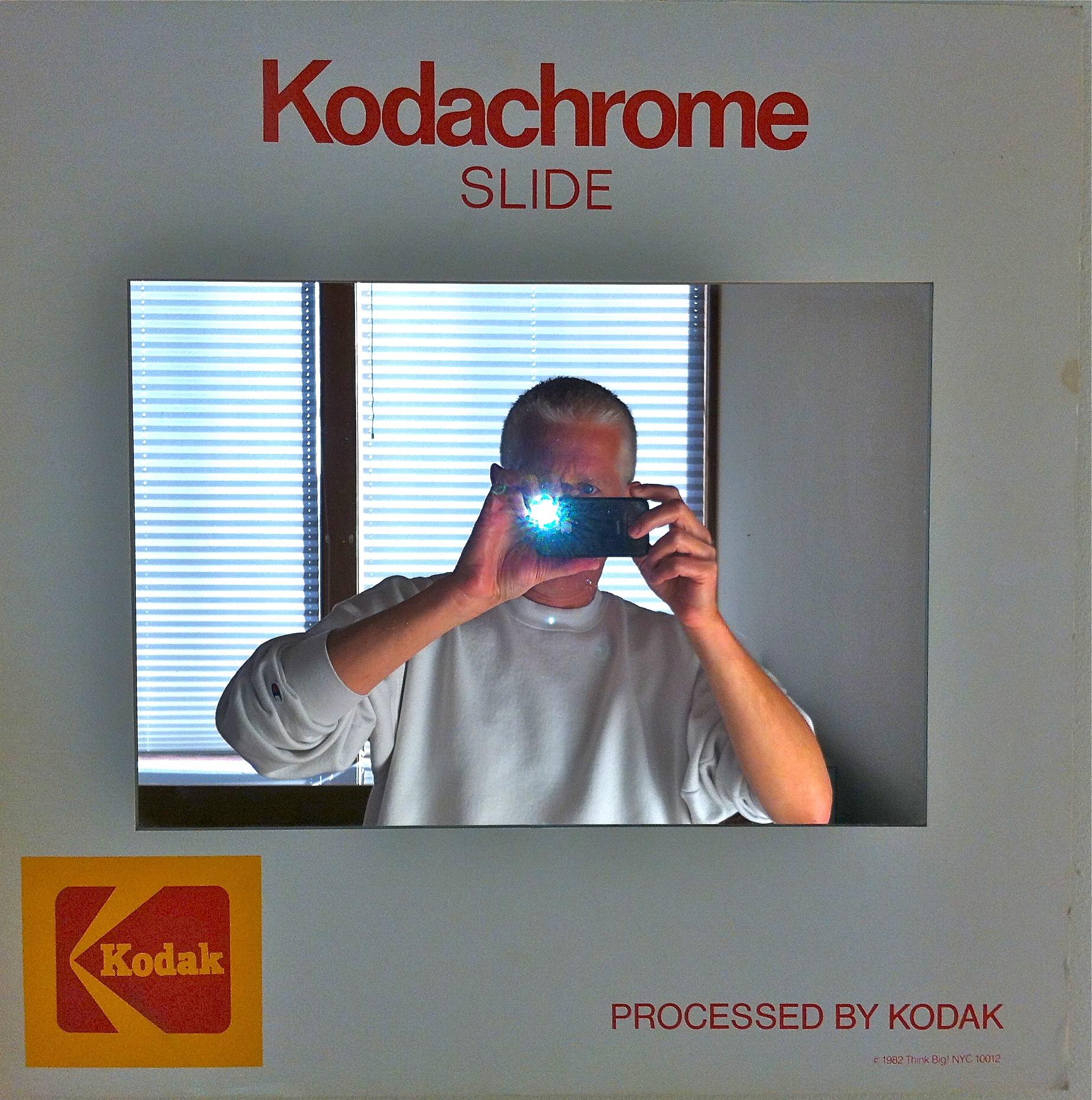 iPhone in my Kodachrome Mirror