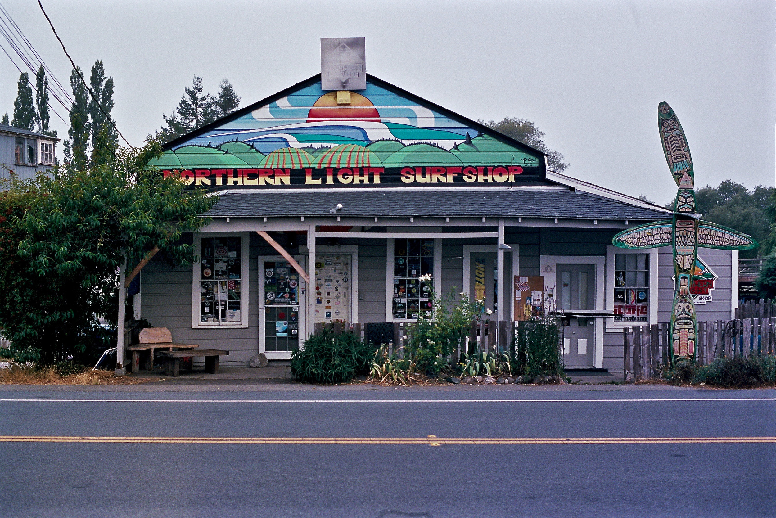 Surf Shop, Bodega, CA Olympus OM2n, 50mm f/1.4 Zuiko on Kodak Portra 400