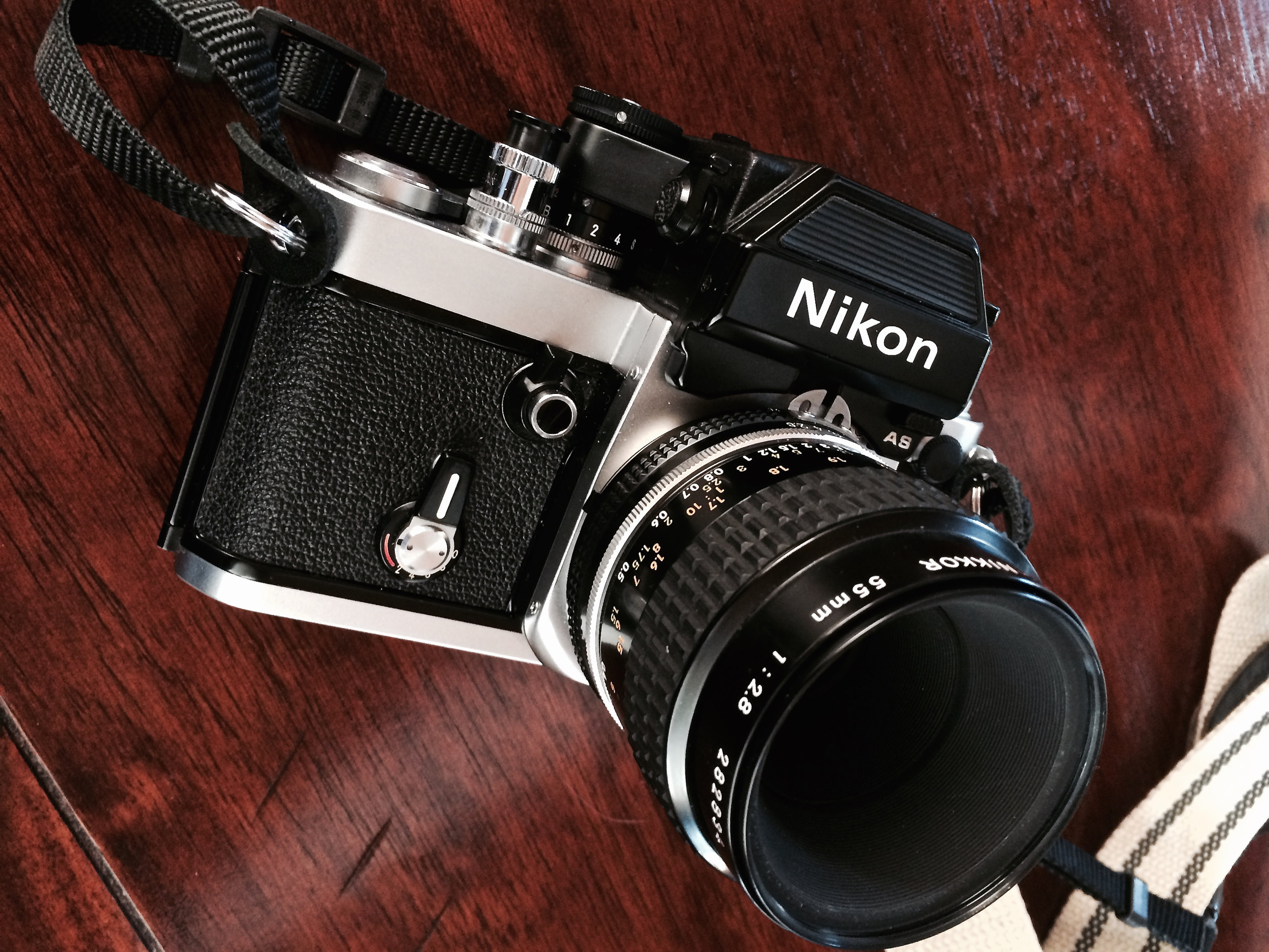 Nikon F2AS with 55mm f/2.8 Micro-Nikkor Lens