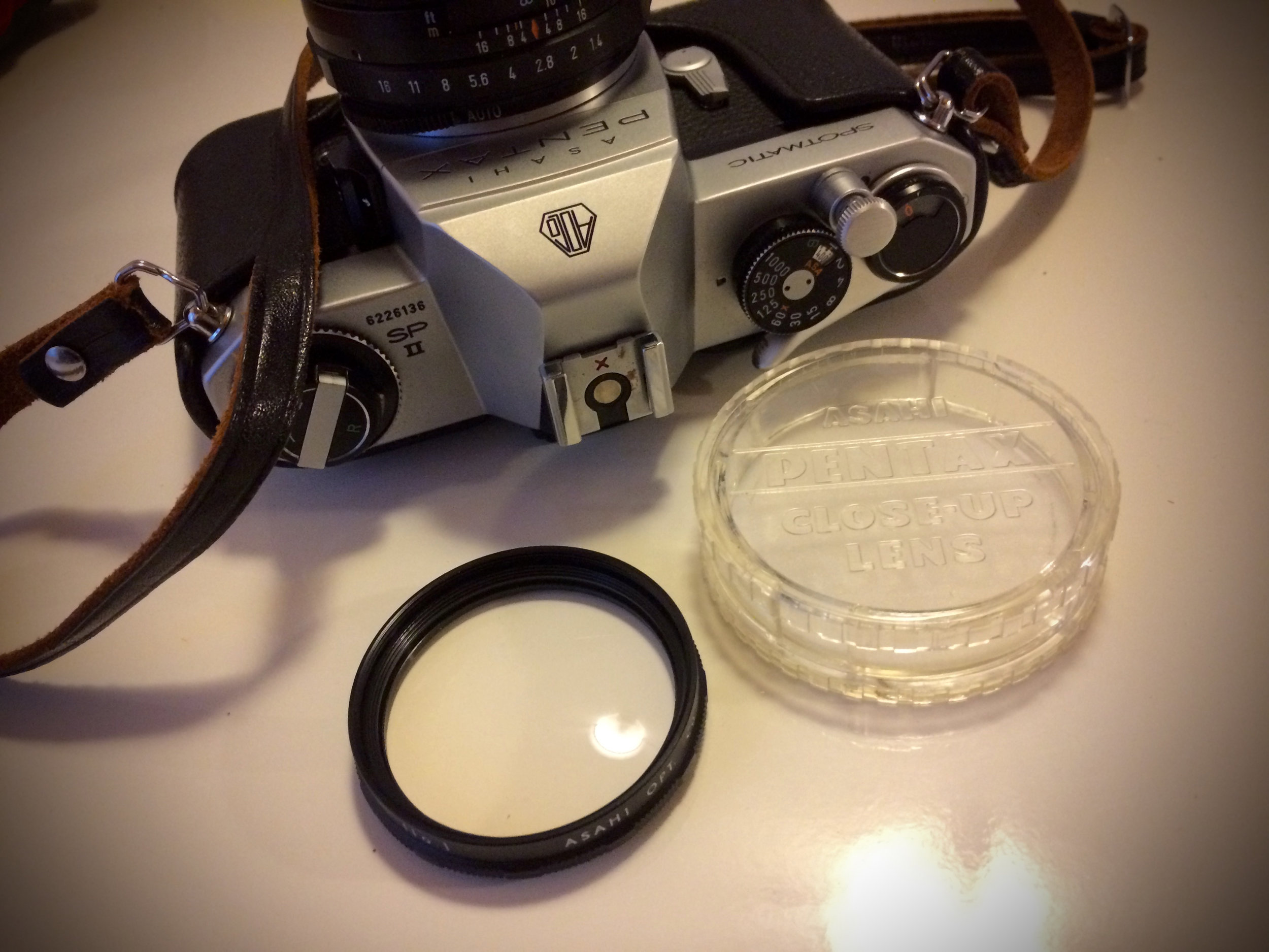 Pentax Spotmatic SP II with Close Up Lens and Case