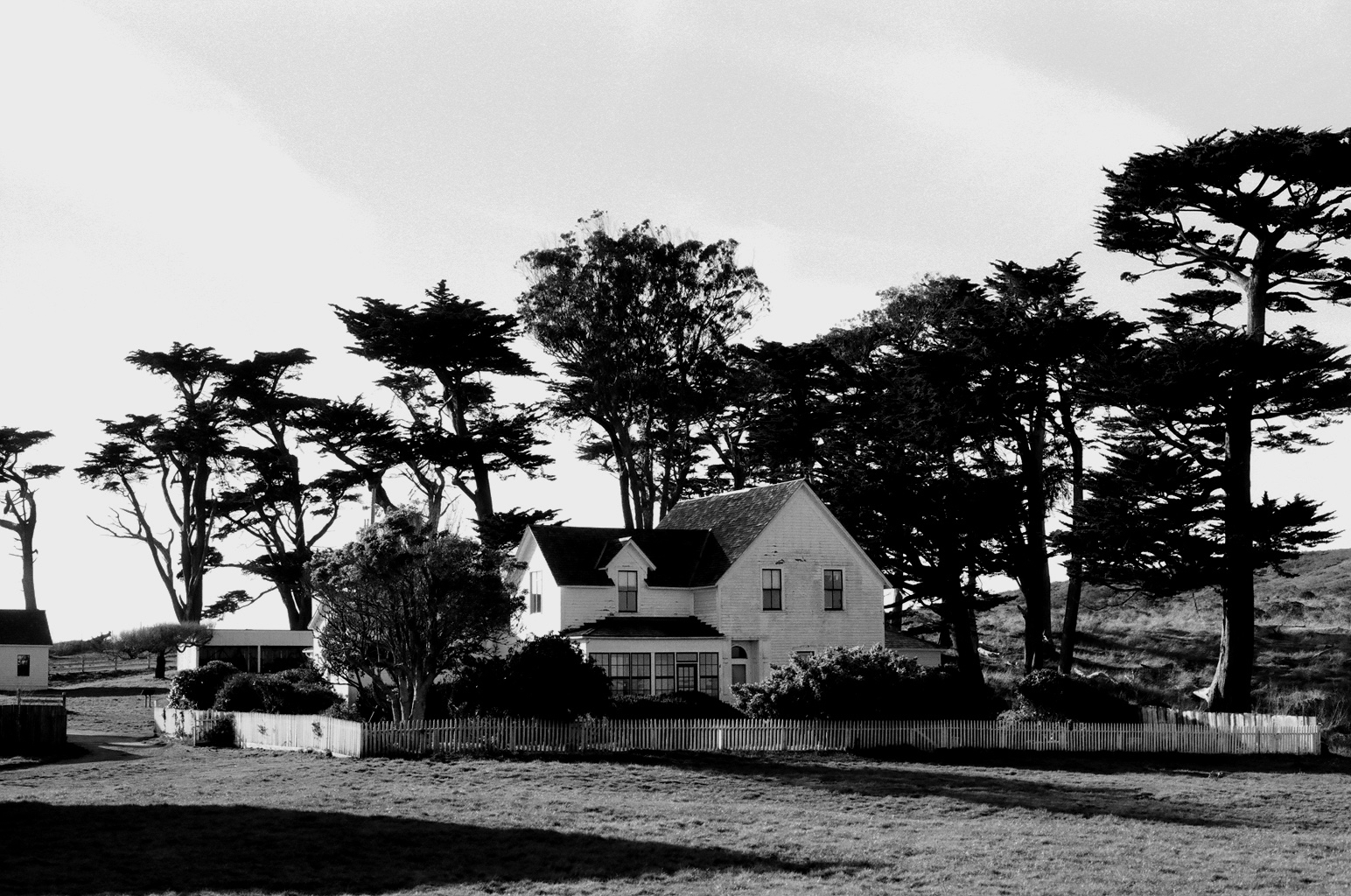 The ranch house at Pierce Point.