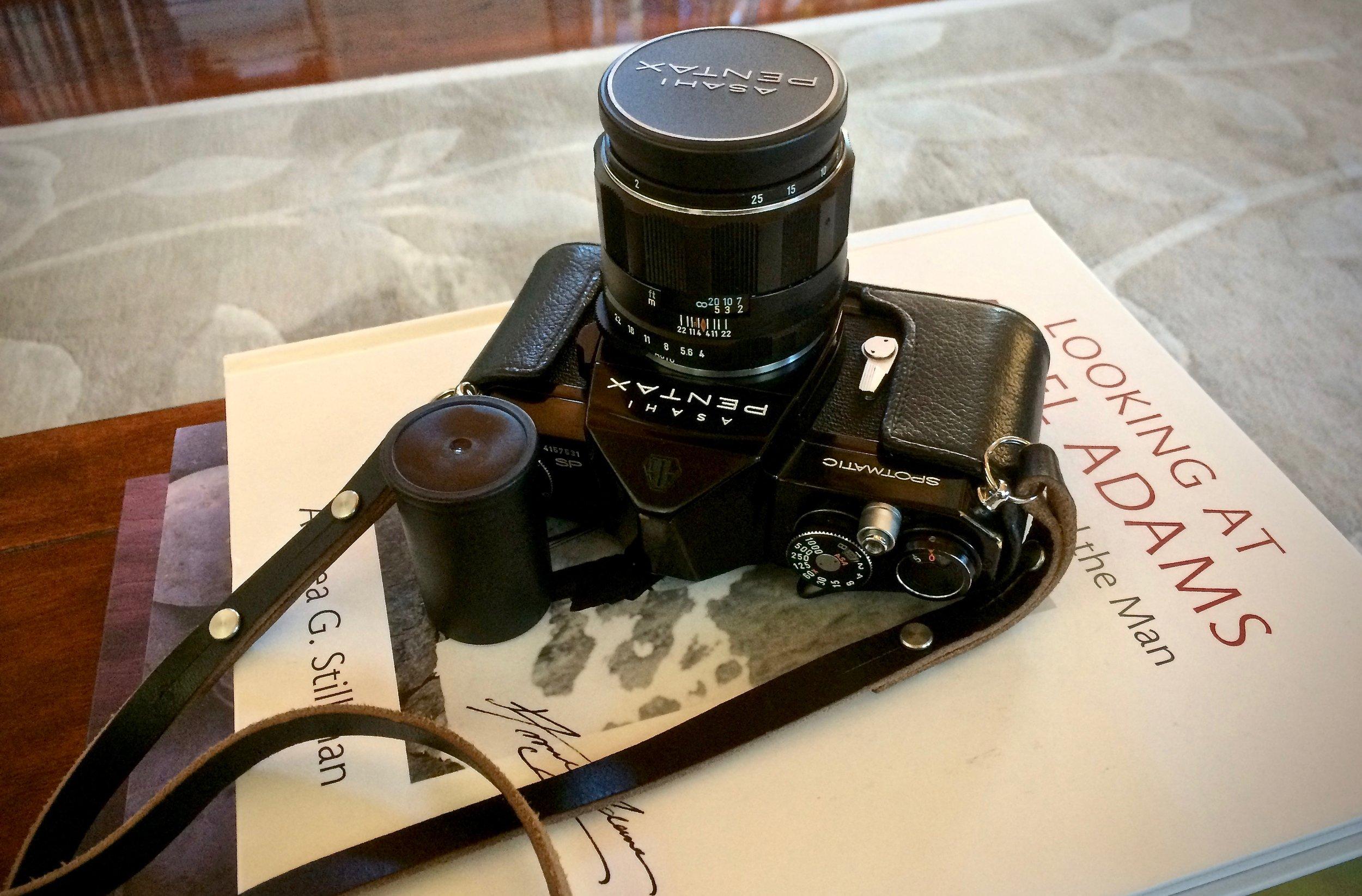 Pentax Spotmatic SP with 50mm f/4 Super Macro Takumar
