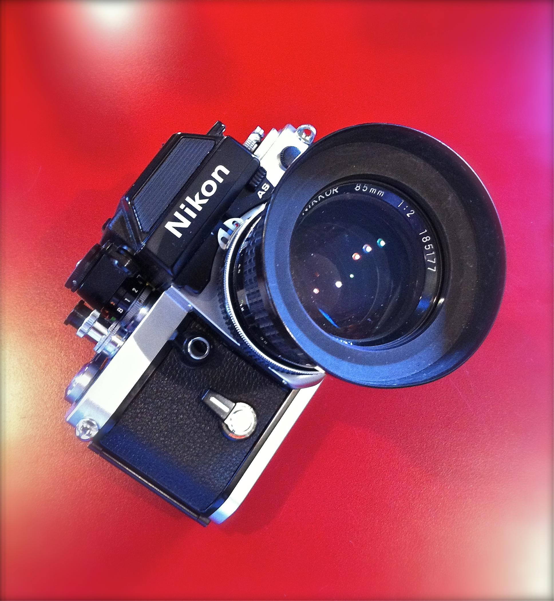 Nikon F2 with 85mm f/2 Nikkor lens