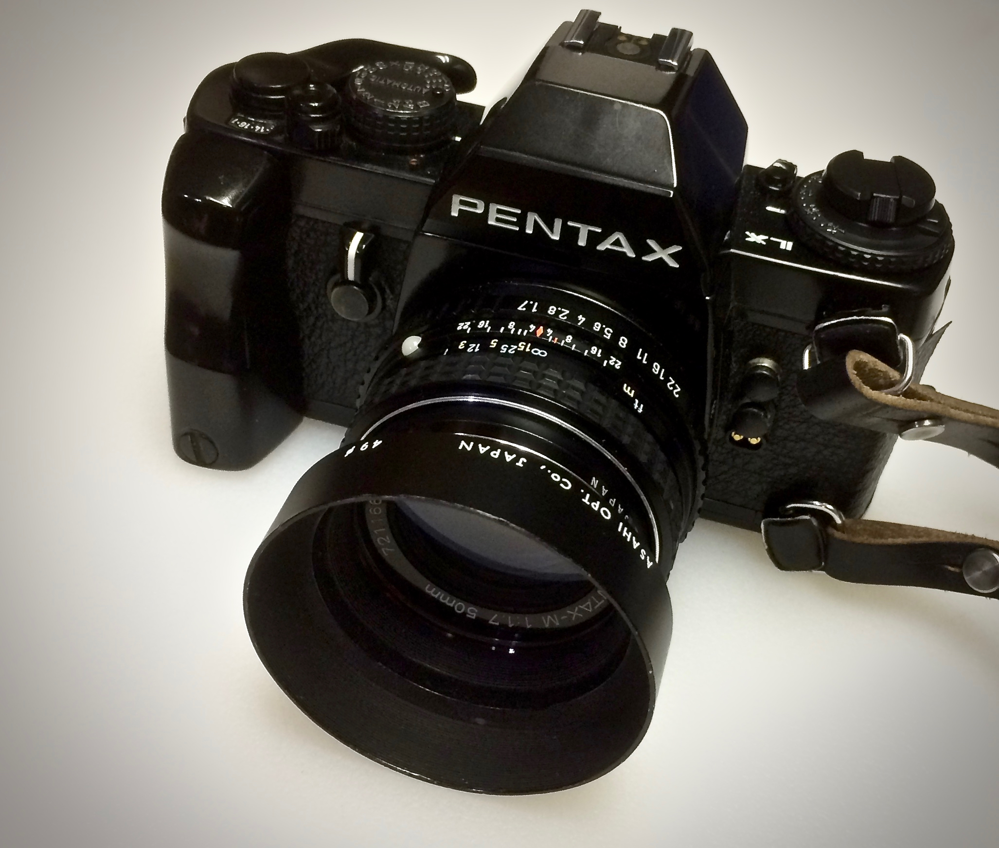 Pentax LX with the 50mm SMC f/1.7 lens