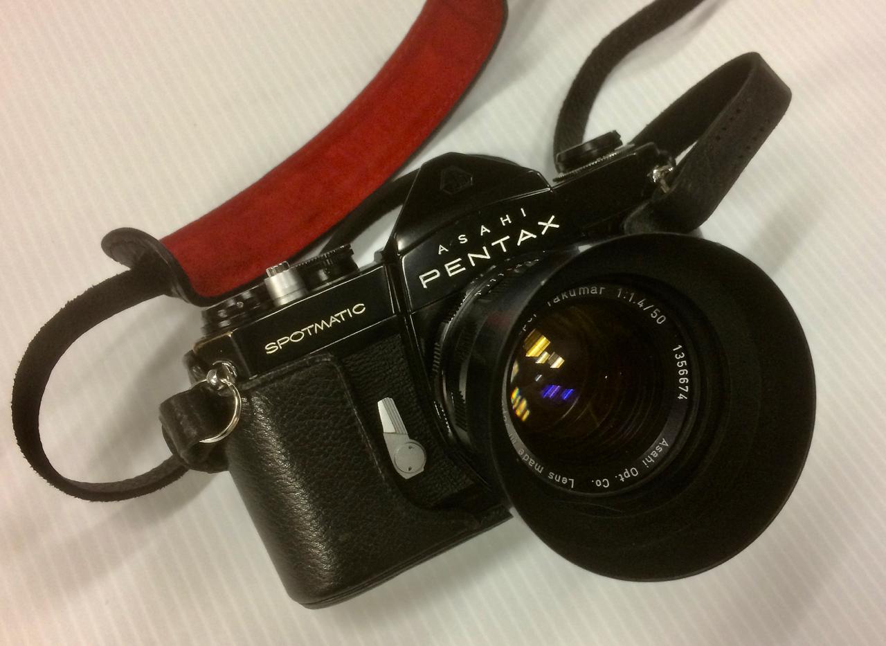 Pentax Spotmatic SP with 50mm f/1.4 Super Takumar