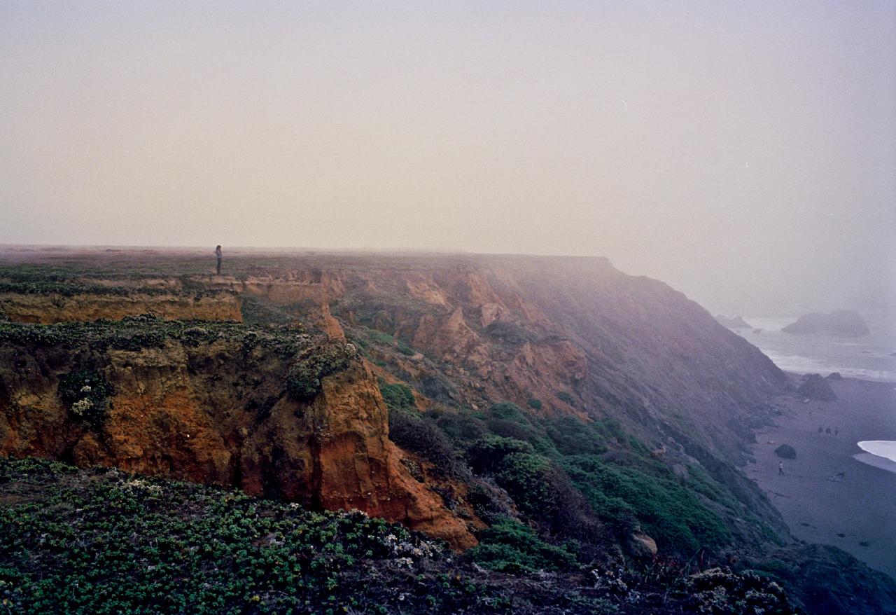 Girl On A Cliff    Leica M4, 50 Summicron, Portra 400