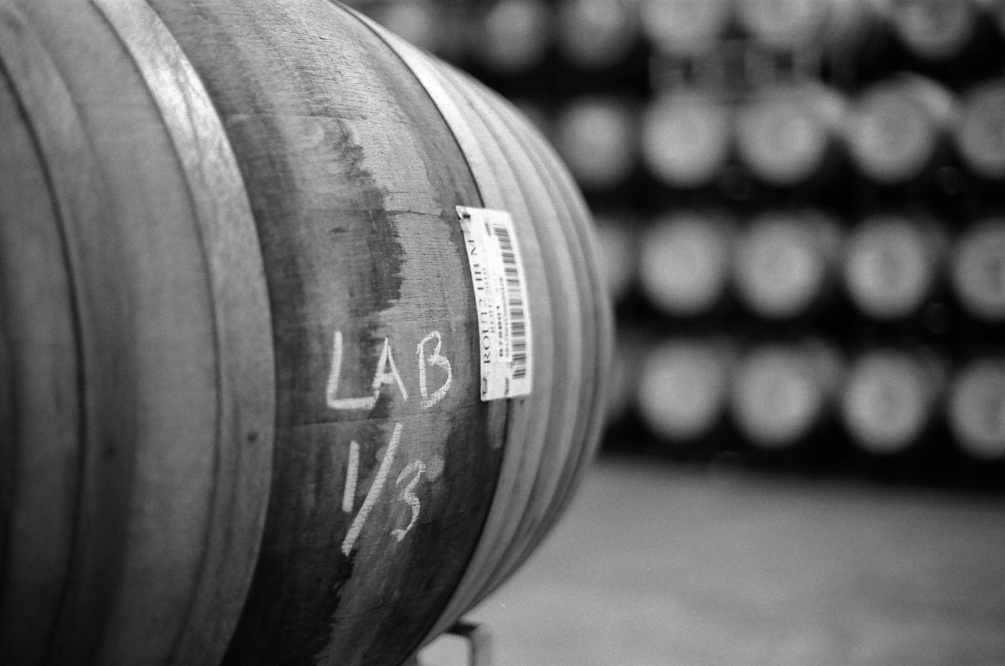 Certain barrels are labeled for lab testing