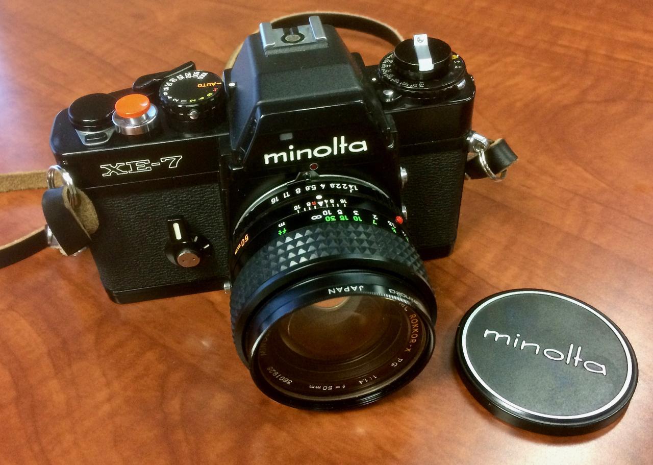 Minolta XE-7 with 50mm f/1.4 Rokkor-X Lens