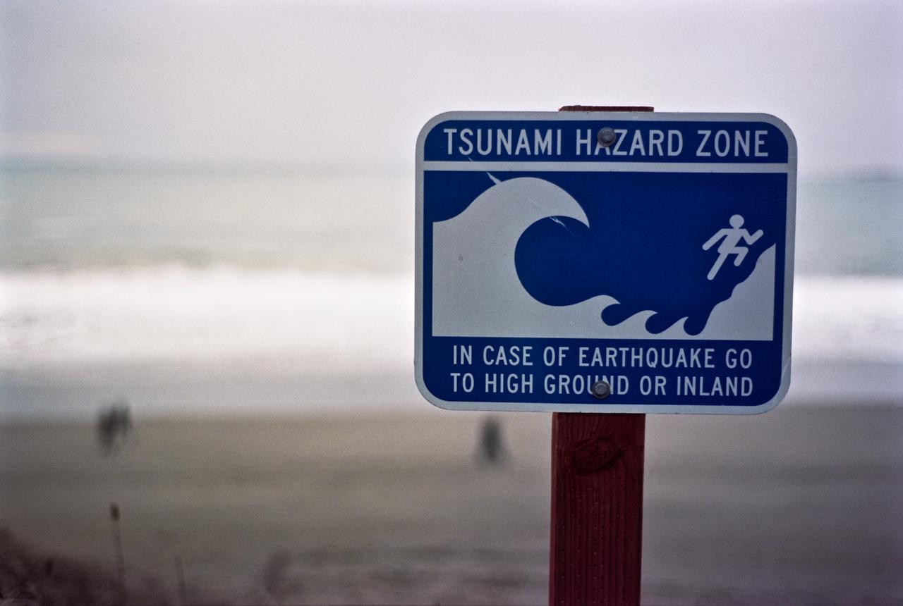 Warning Sign at Pinnacle Gulch, Sonoma Co, CA