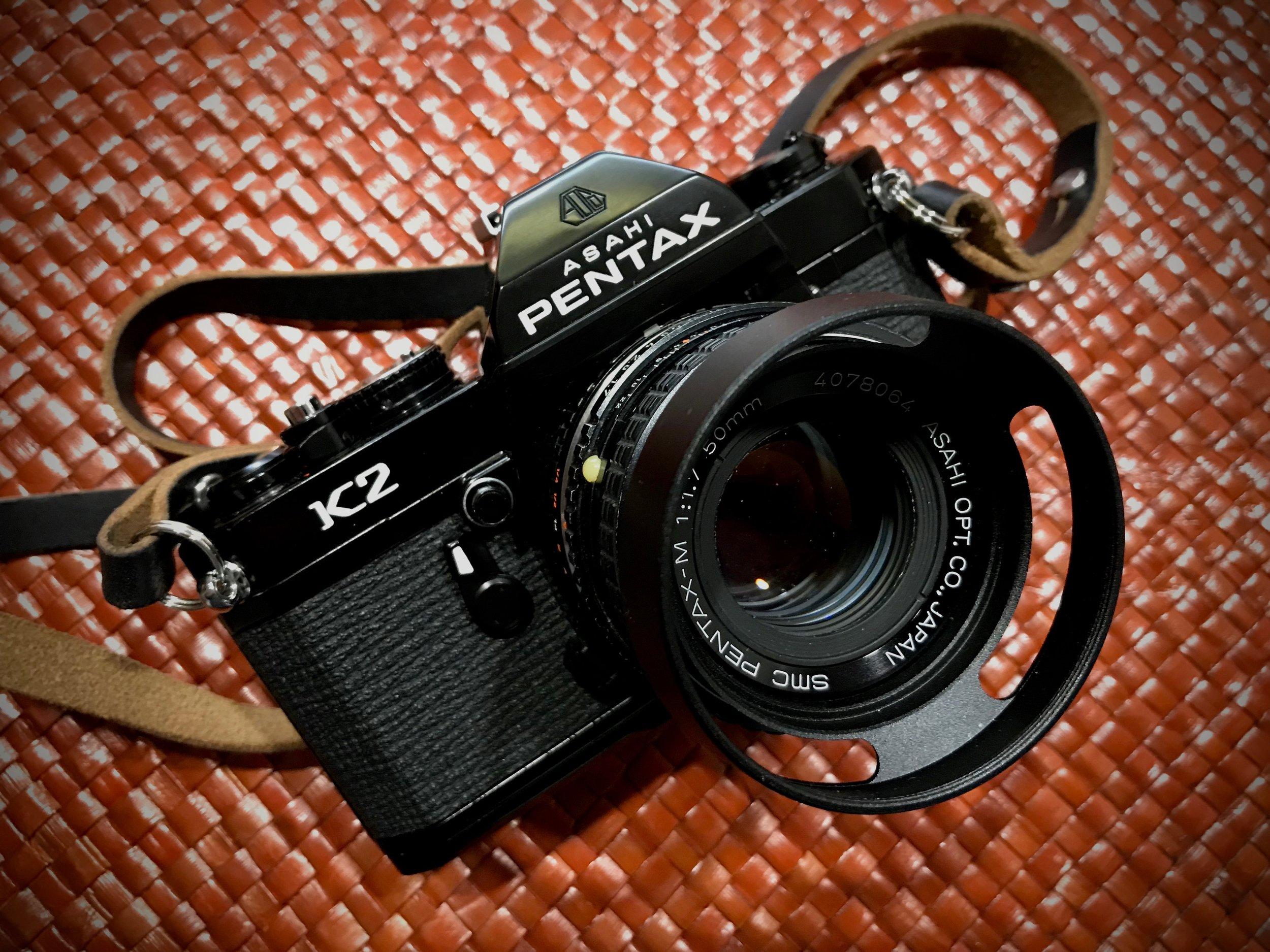 Pentax K2, SMC Pentax-M 50mm f/1.7 kit lens