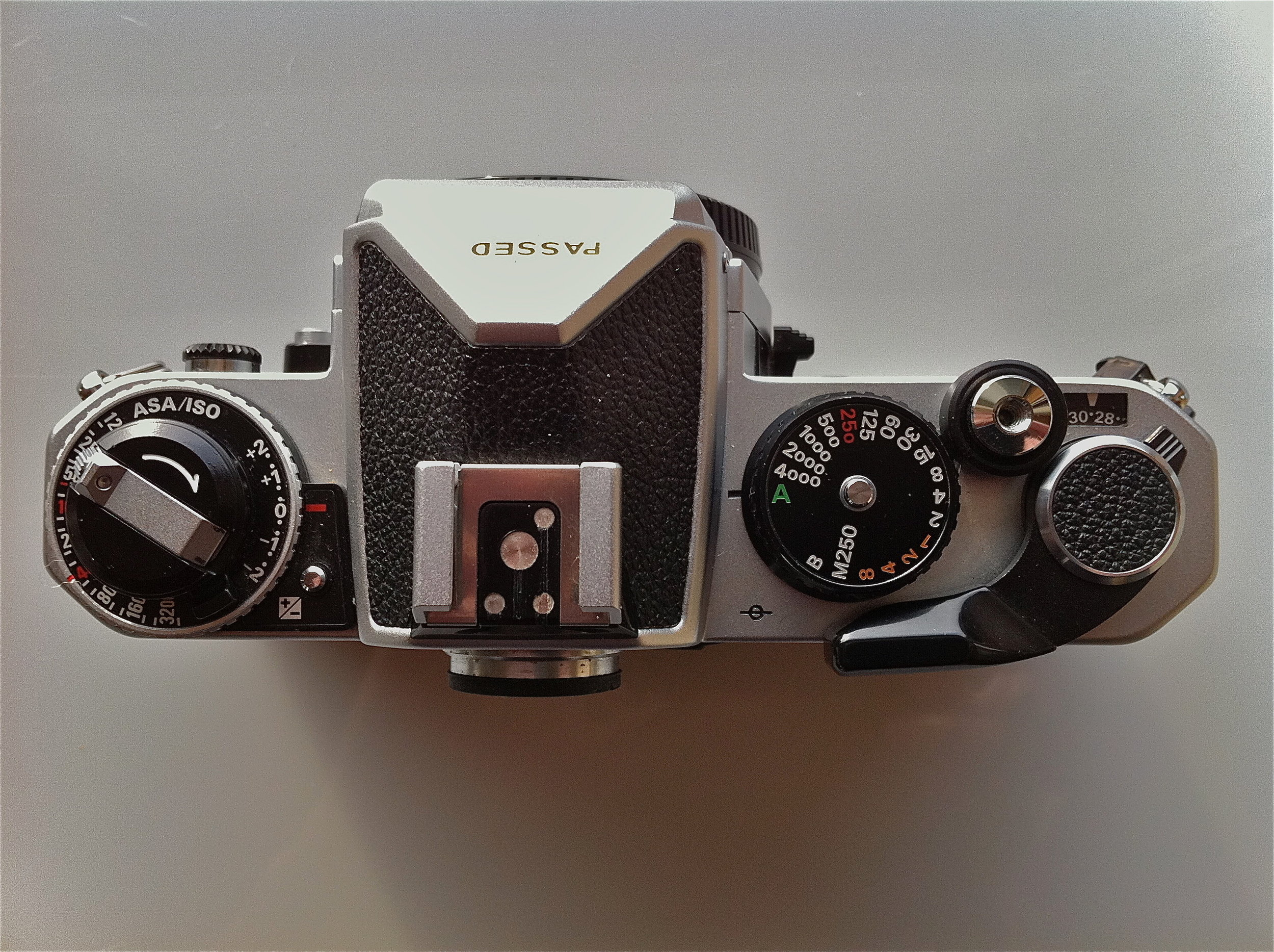 Nikon FE2 top controls. Sweet and simple!