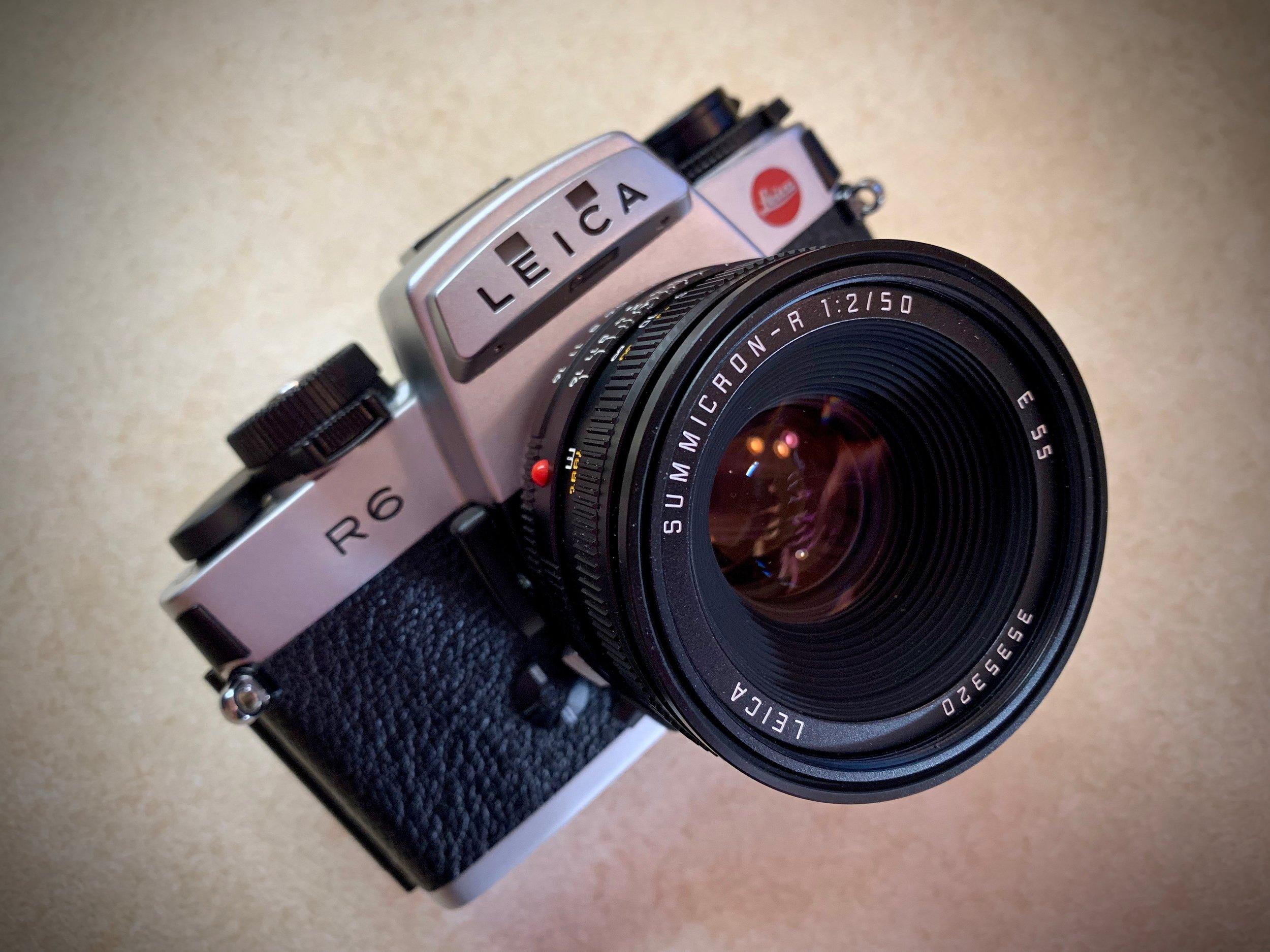 Leica R6 with 50 Summicron lens