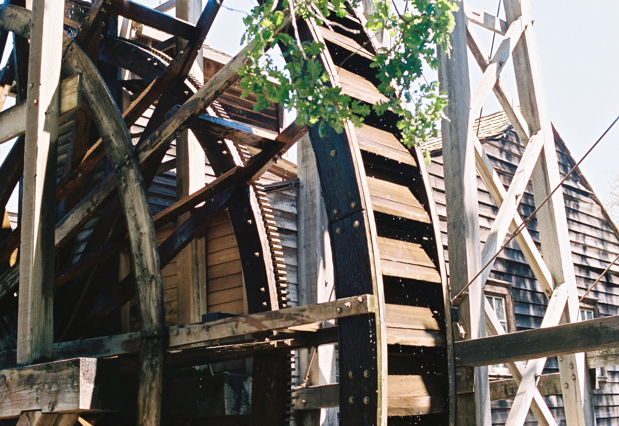 The water wheel at the Bale Grist Mill