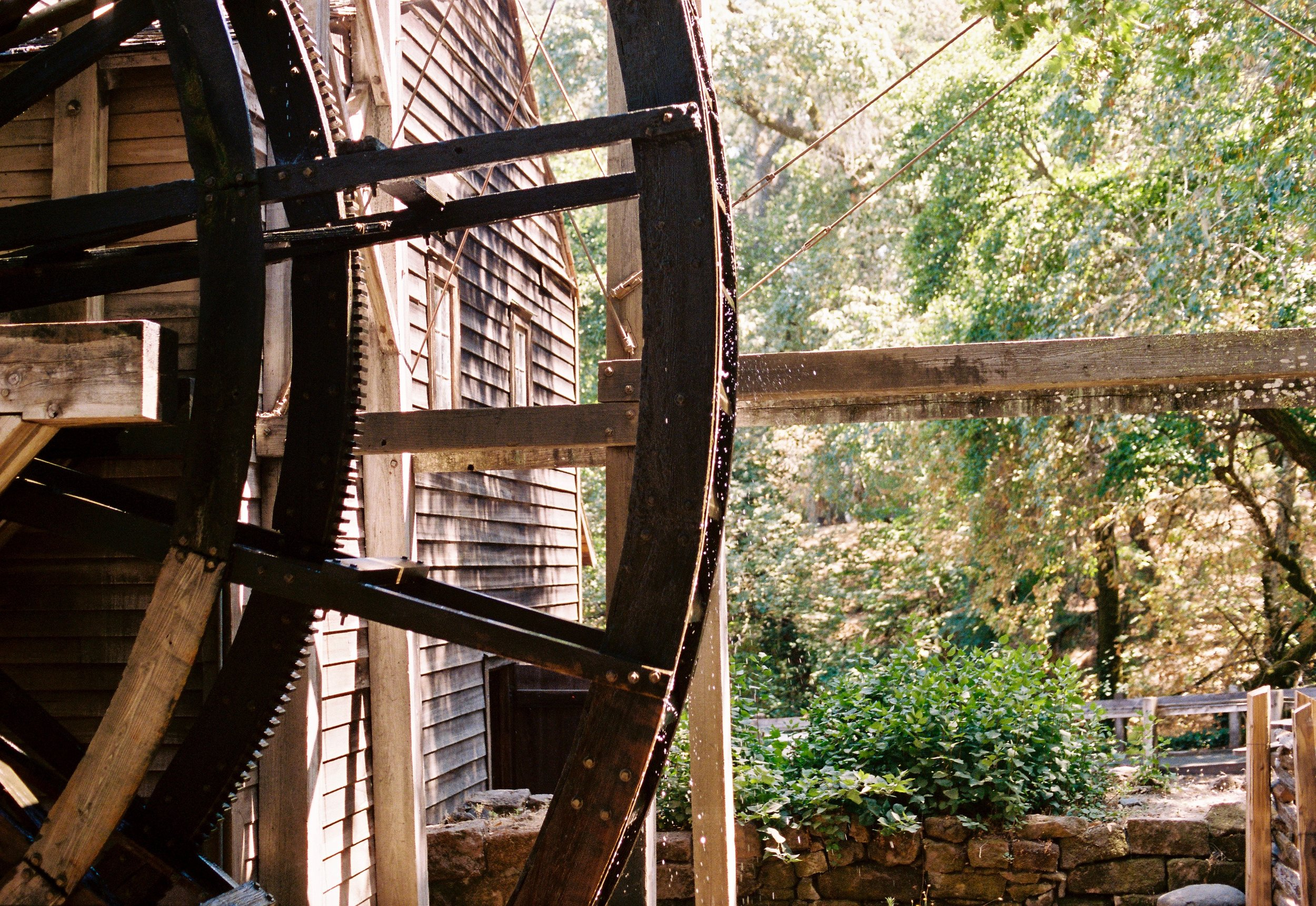 Another shot of the water wheel at Bale Grist Mill. The Mill is a historic site, but they grind every day!