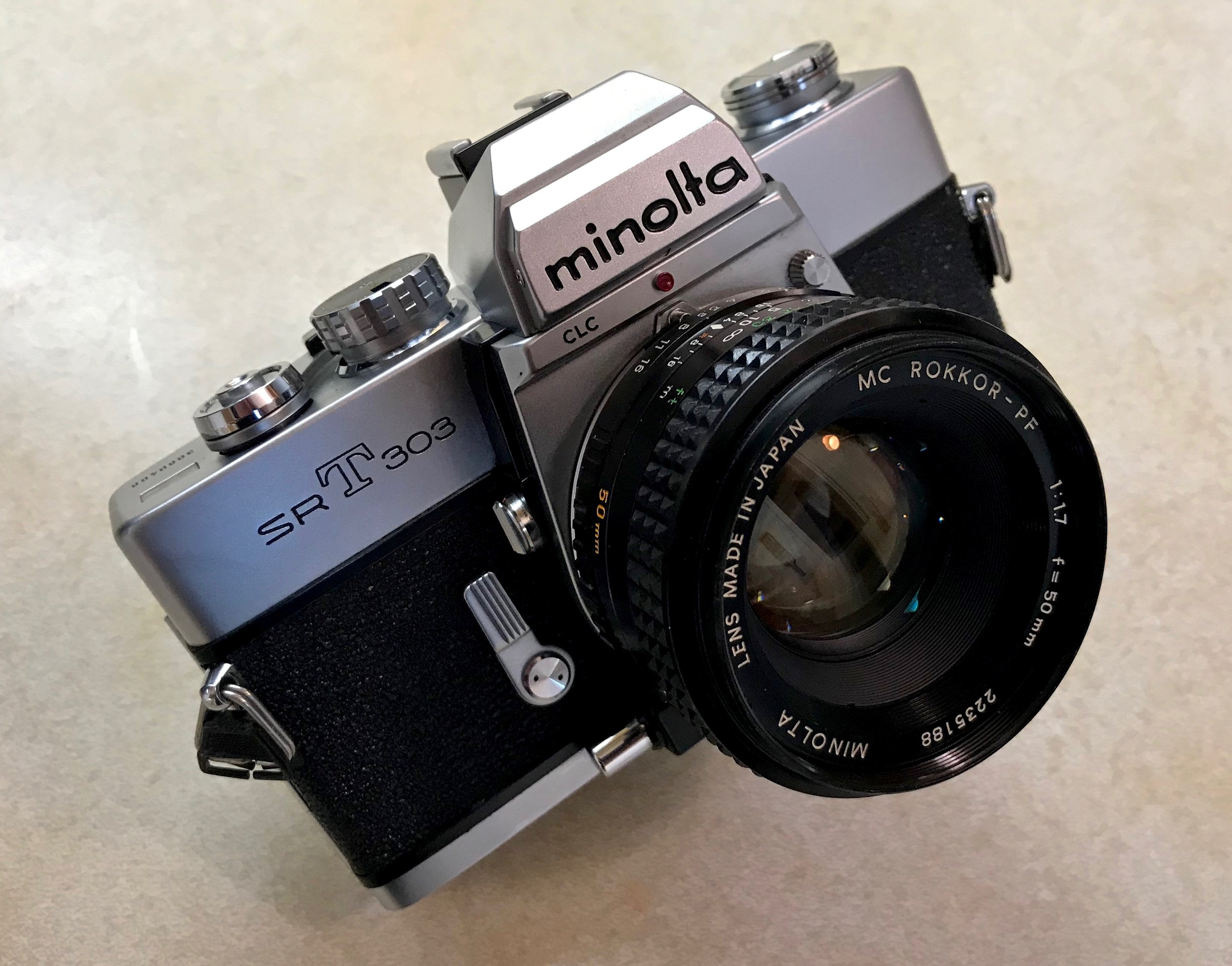 Minolta SRT303 - All of the SRT models are simple mechanical cameras that mount very nice and affordable Rokkor lenses.