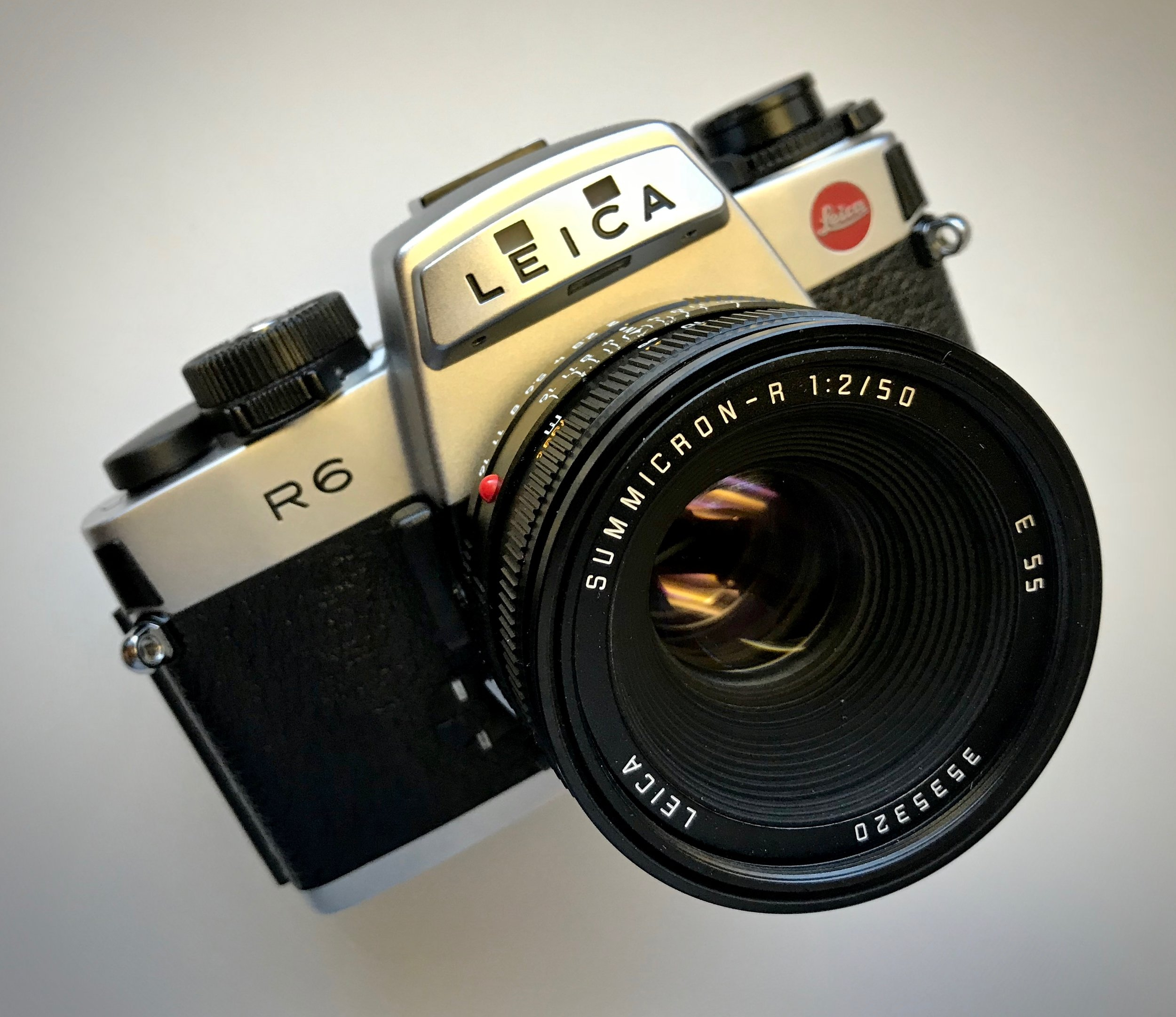 Leica R6 - Yes, Leica made SLR cameras too! The R6 and R6.2 were the only full mechanical ones though—think of the R6 as the big brother to the Leica M6TTL. The R system is a very affordable way to try Leica glass