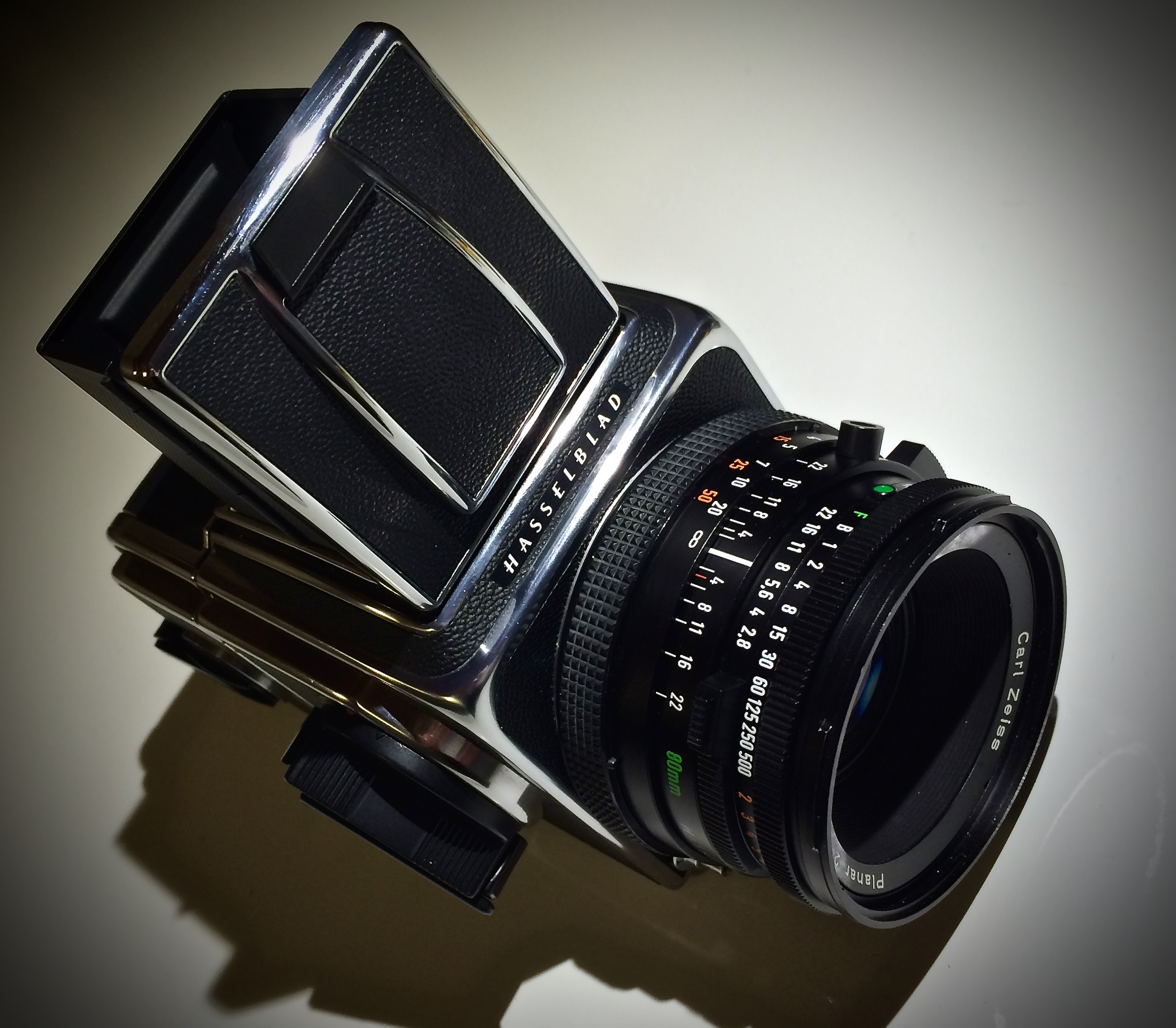 Hasselblad 500/cm - Superb build quality and tack sharp Zeiss glass makes the Hassey a mechanical medium format camera you must try. Note: carrying one around all day is a workout! These are big, heavy cameras!