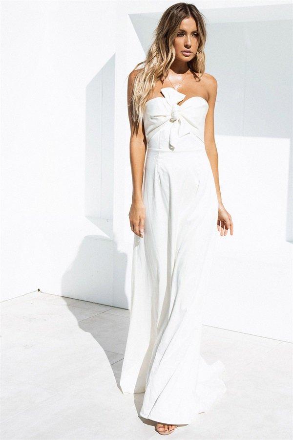 Venice Bridesmaid Dress Ivory - $298