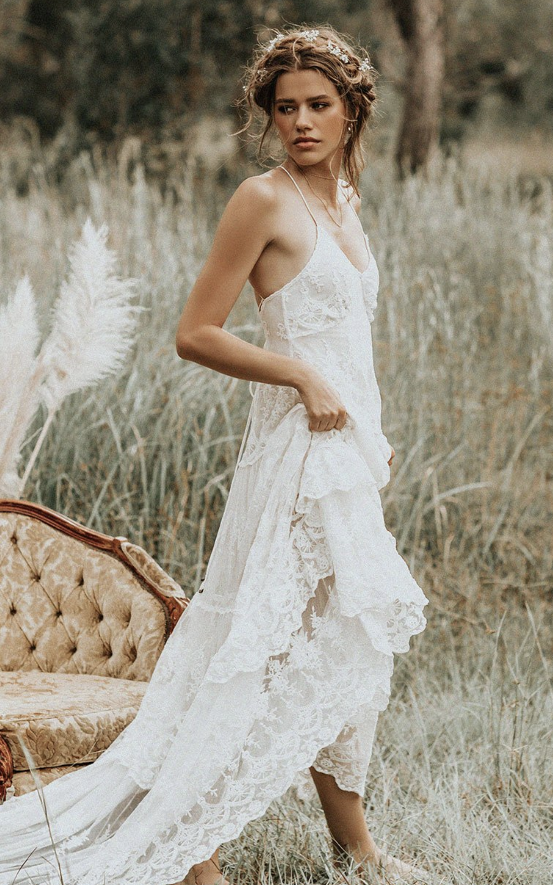 Canyon Moon Mesh Gown - $795
