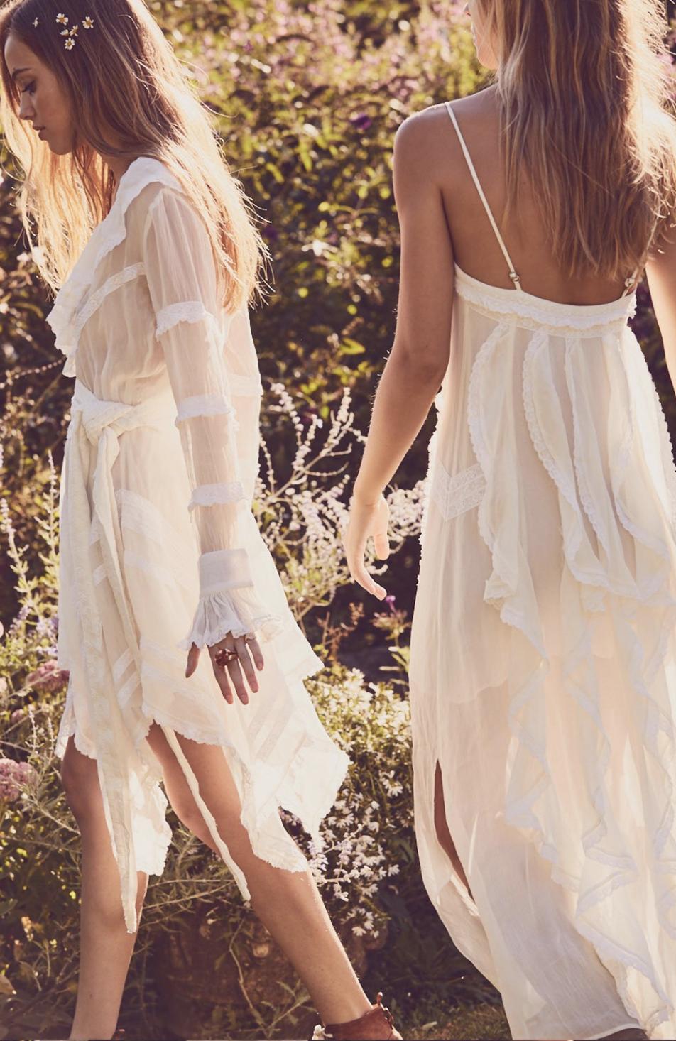 Ruffle Slip Dress - $395