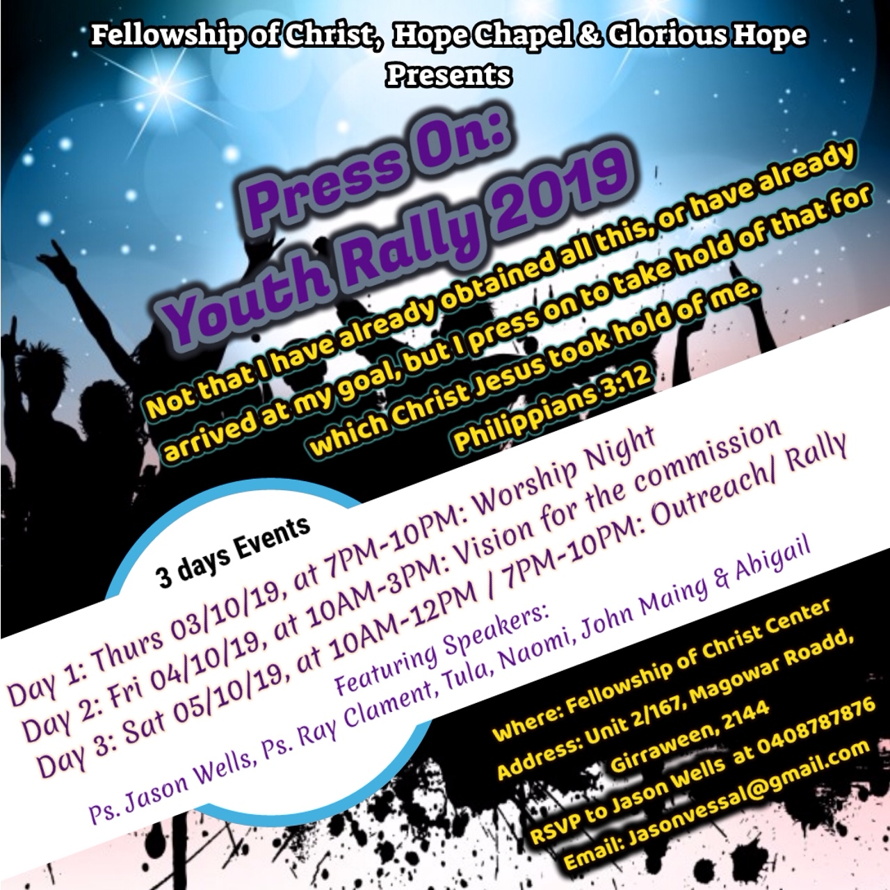 Fellowship of Christ Press On youth rally.JPG