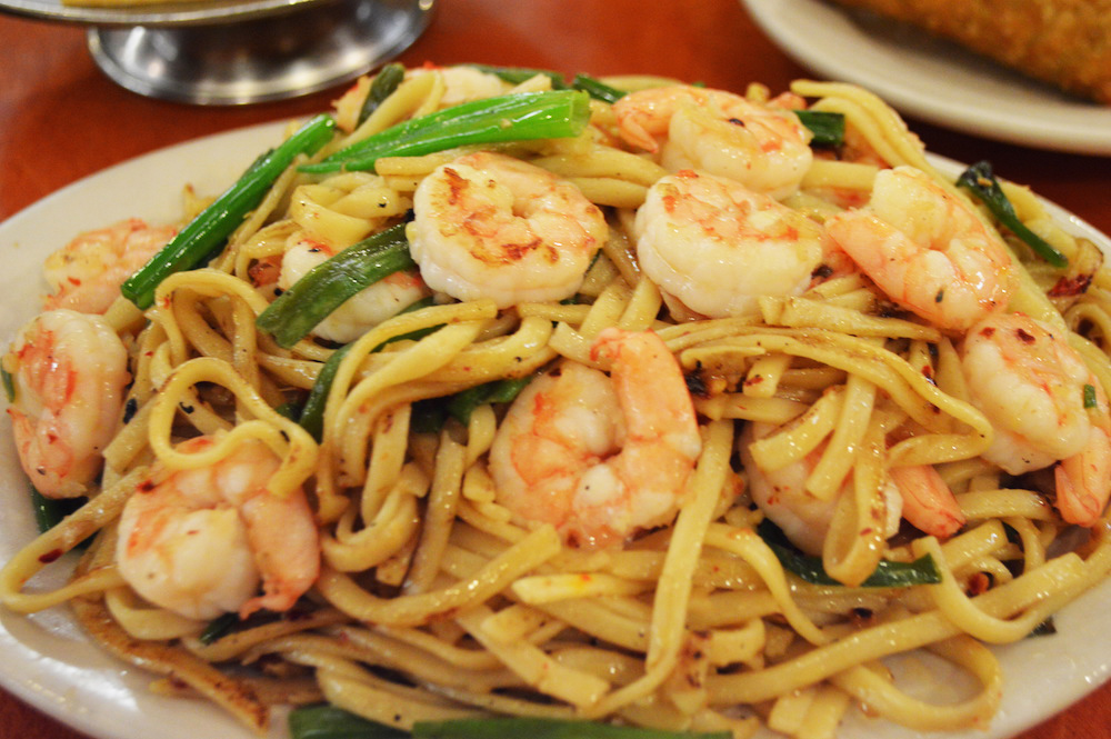 Spicy Shrimp Garlic Noodles