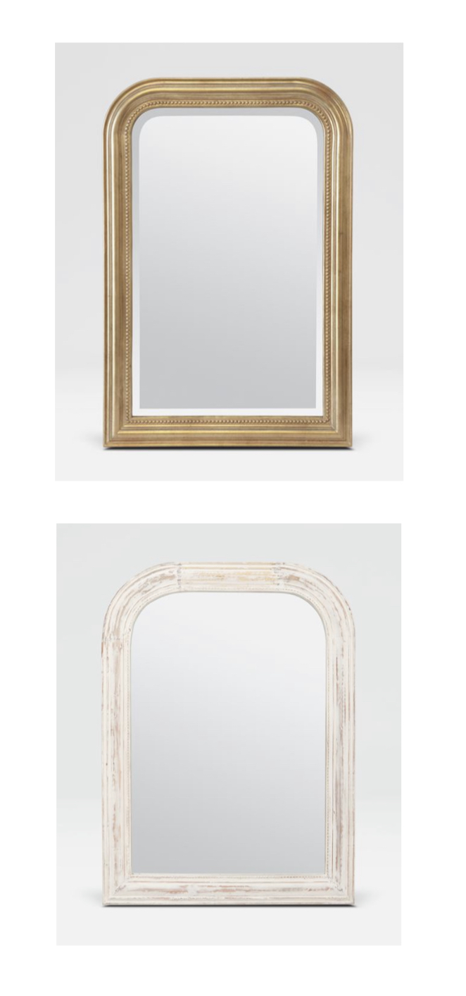feel of the finish - I love it when a vendor has an item in multiple finishes. These two mirrors feel so different even though they're the same other than color.