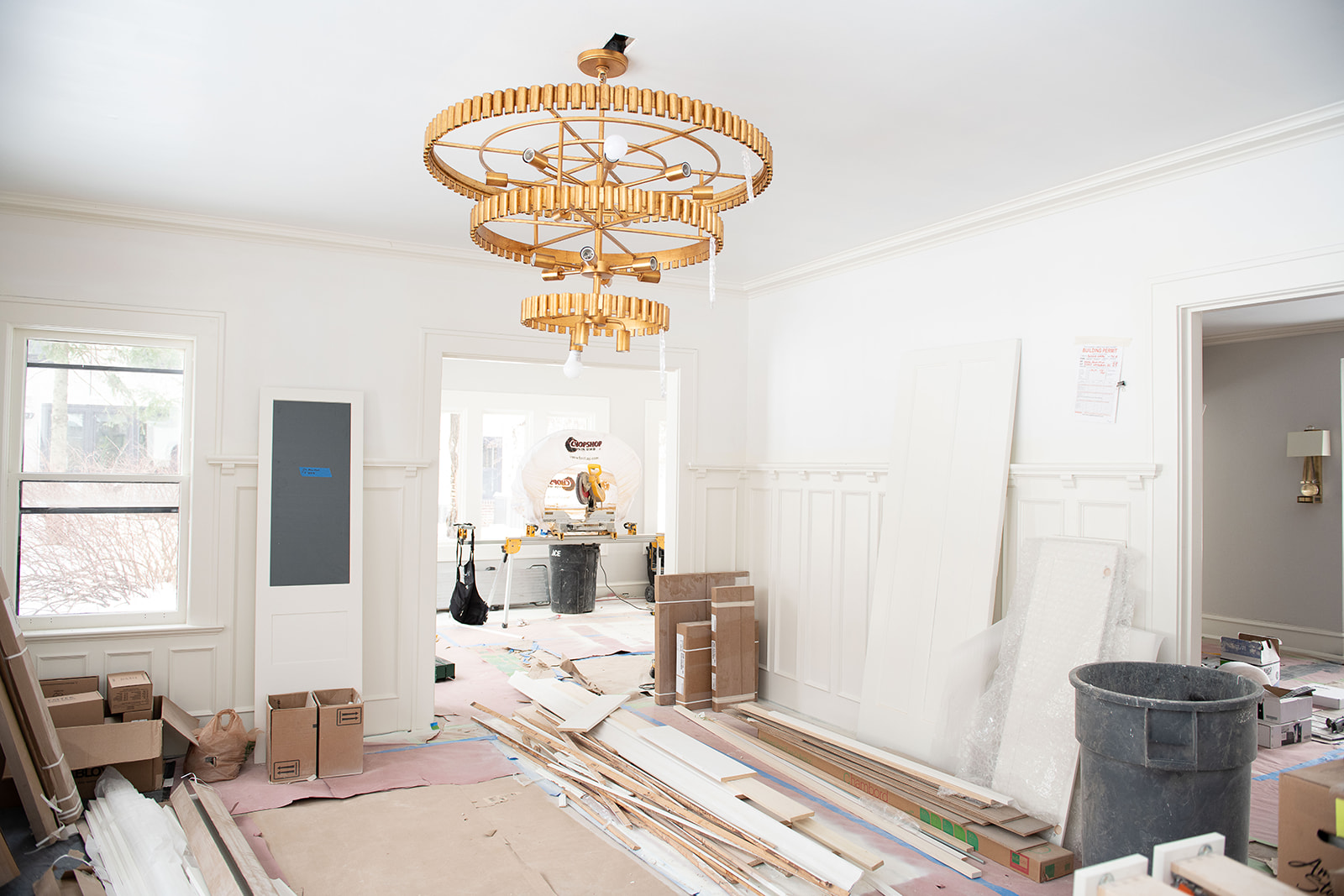 Things are taking shape in each room of the house now that the demolition phase is over! This dining room is already gorgeous and things are just getting started.