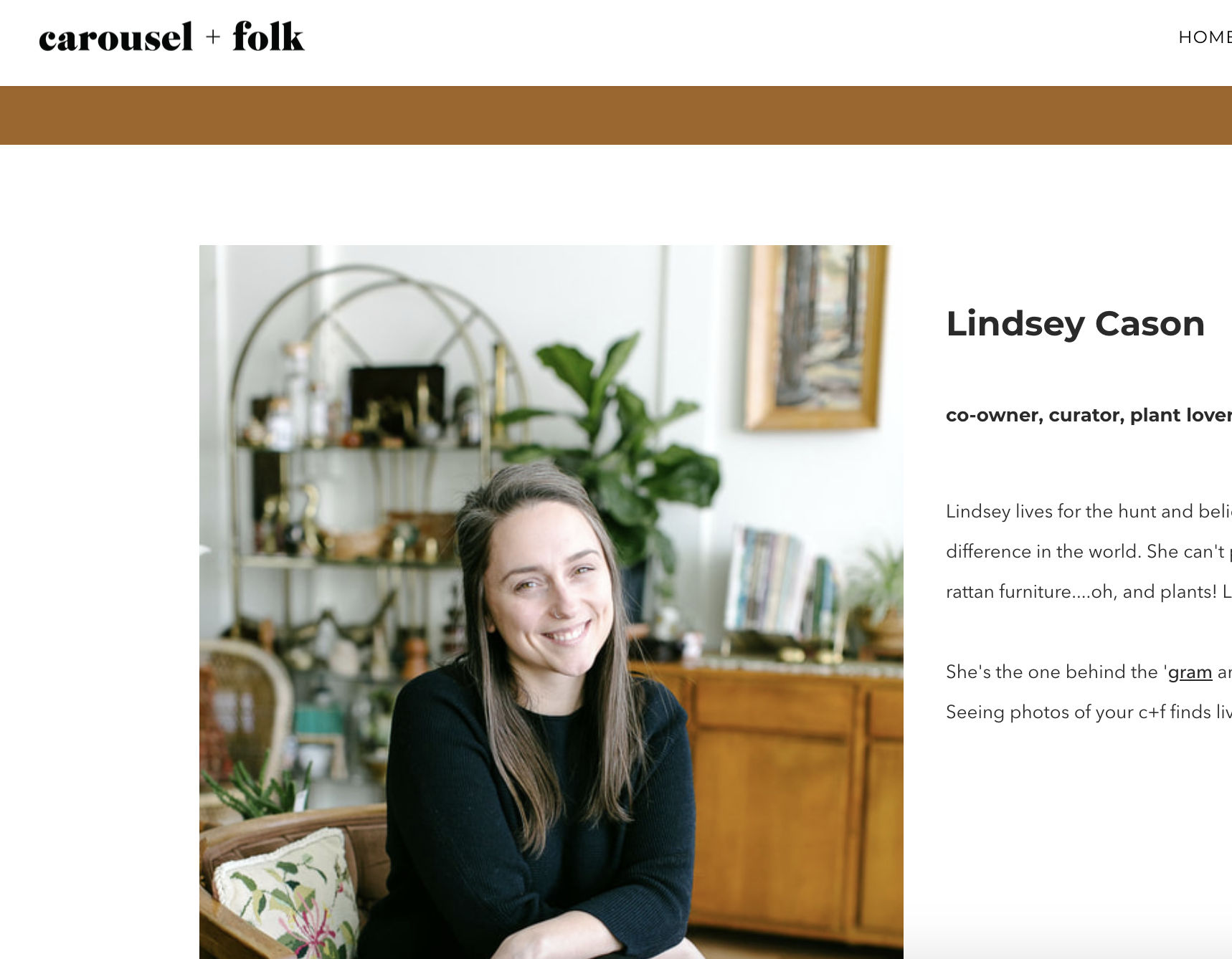 Updated about page (Bonus: it matched the aesthetic on her homepage! #winning)