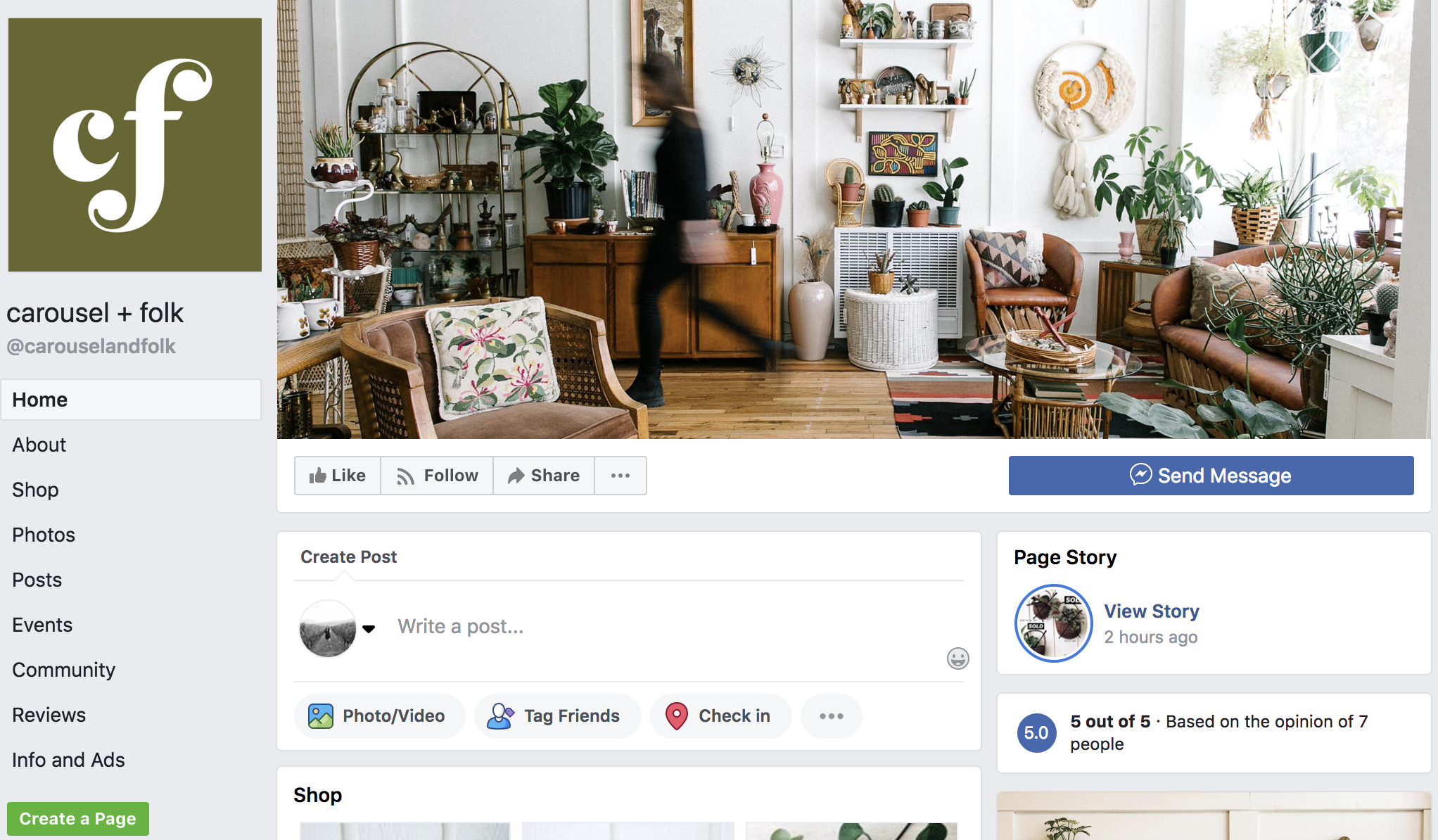 FB Banner was the same as the website - giving it a cohesive and recognizable look across platforms